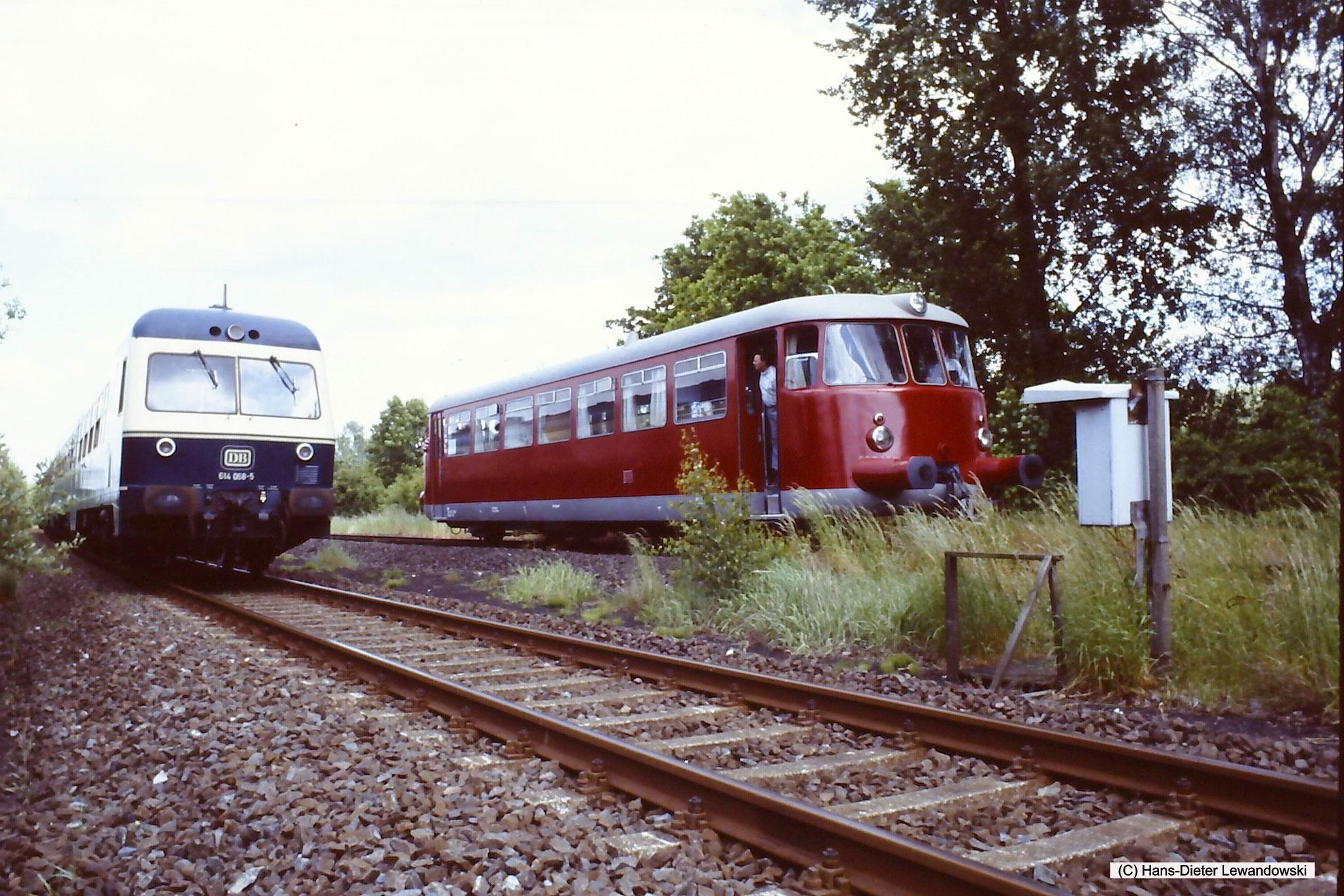 Einfahrt in den Bahnhof Salzgitter-Bad, von der Warnetalbahn kommend