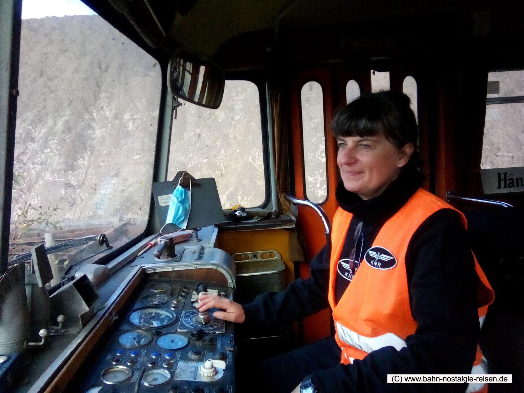 Brigitte in der Tf-Ausbildung auf dem VT 98