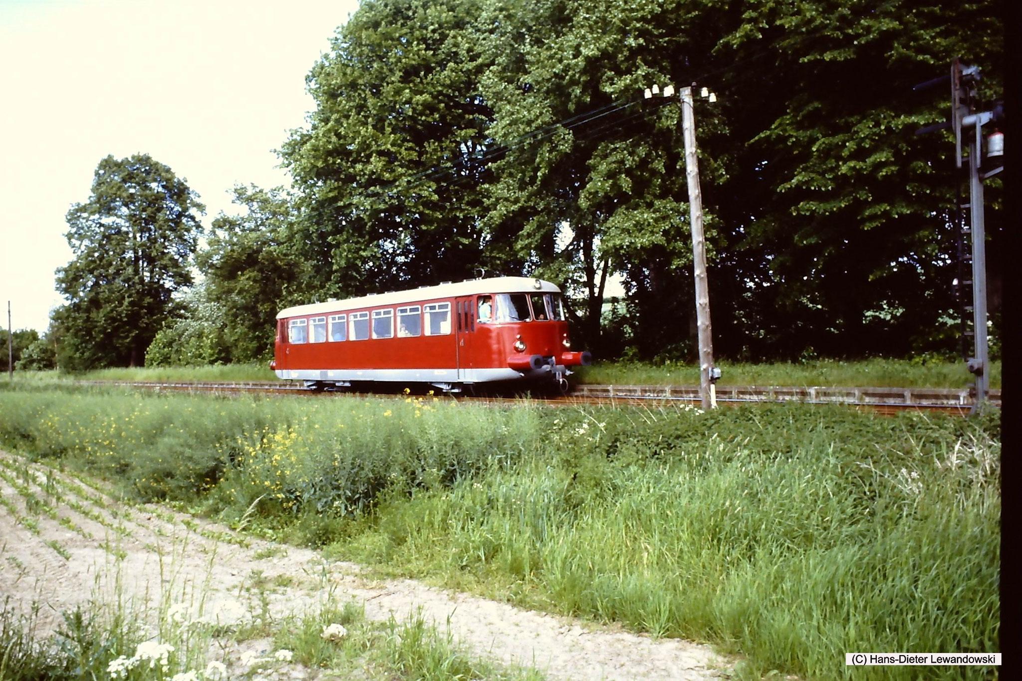 Haltepunkt Wohldenberg mit MAN - VT 1 der Dampflok-Gemeinschaft 41 096 e.V.