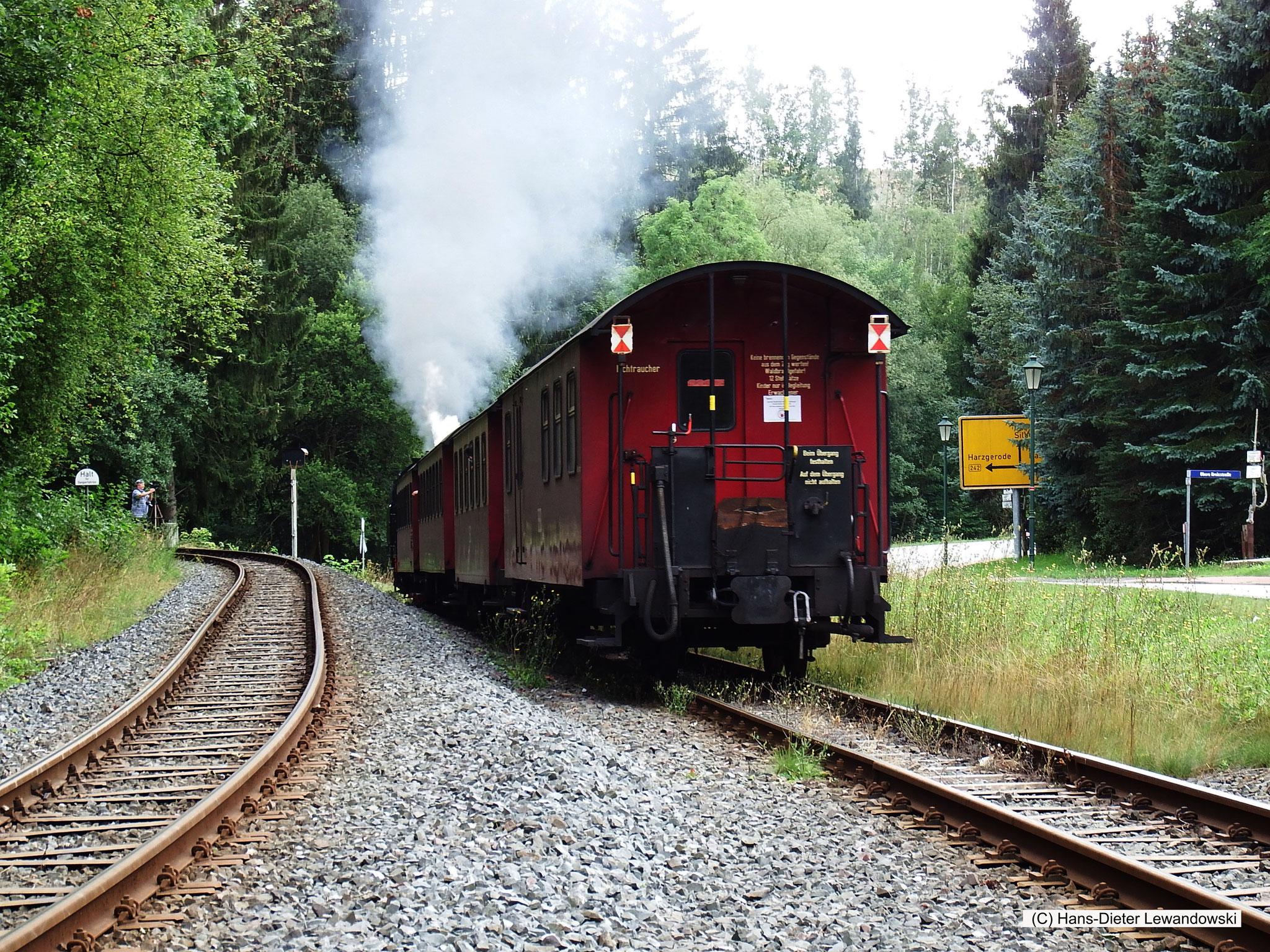 Bahnhof Alexisbad - Ausfahrt Richtung Hasselfelde