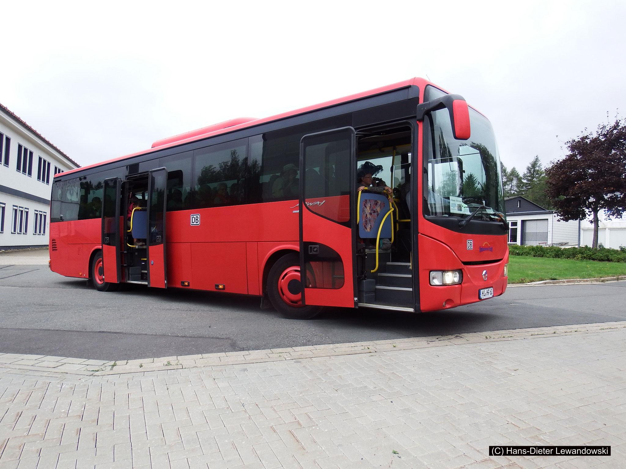 "Der ""Rote Bahnbus"" im Oberharz"