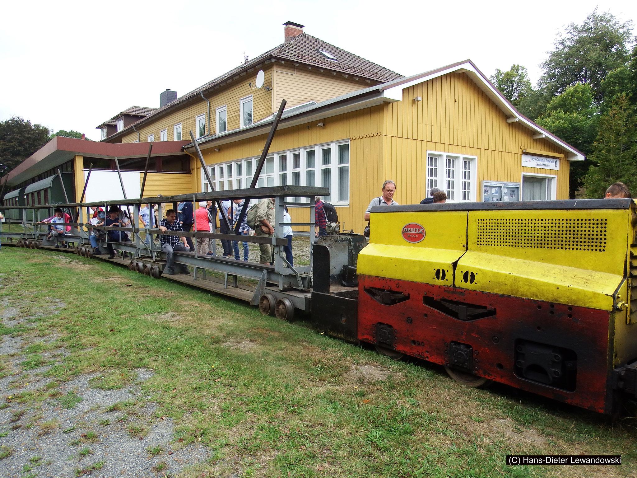 Tagesförderbahn am ehemaligen Bahnhof Clausthal-Zellerfeld