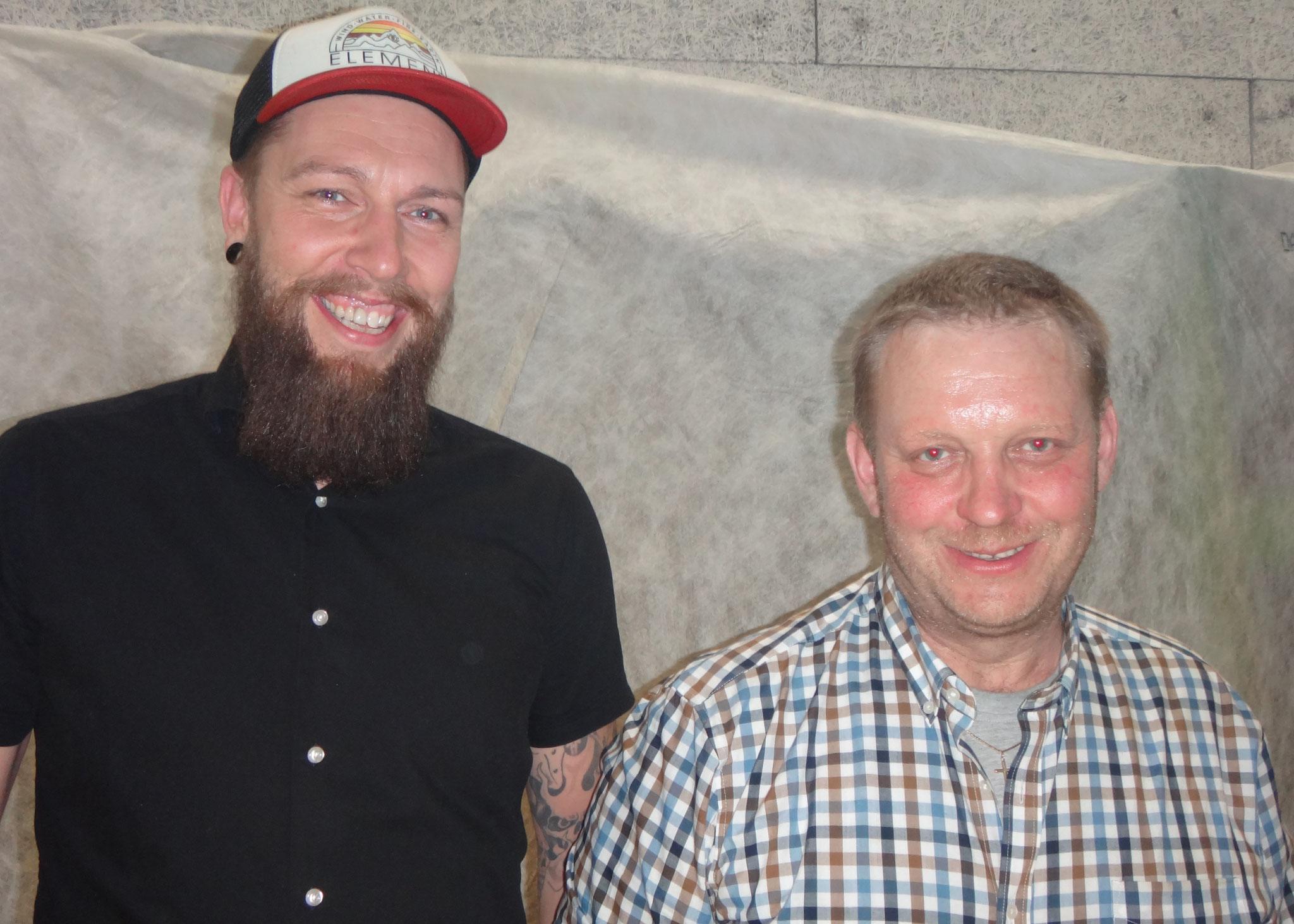 Roberto von Euw (l.) und Martin Betschart, neu auch als Lehrmeister ausgebildet