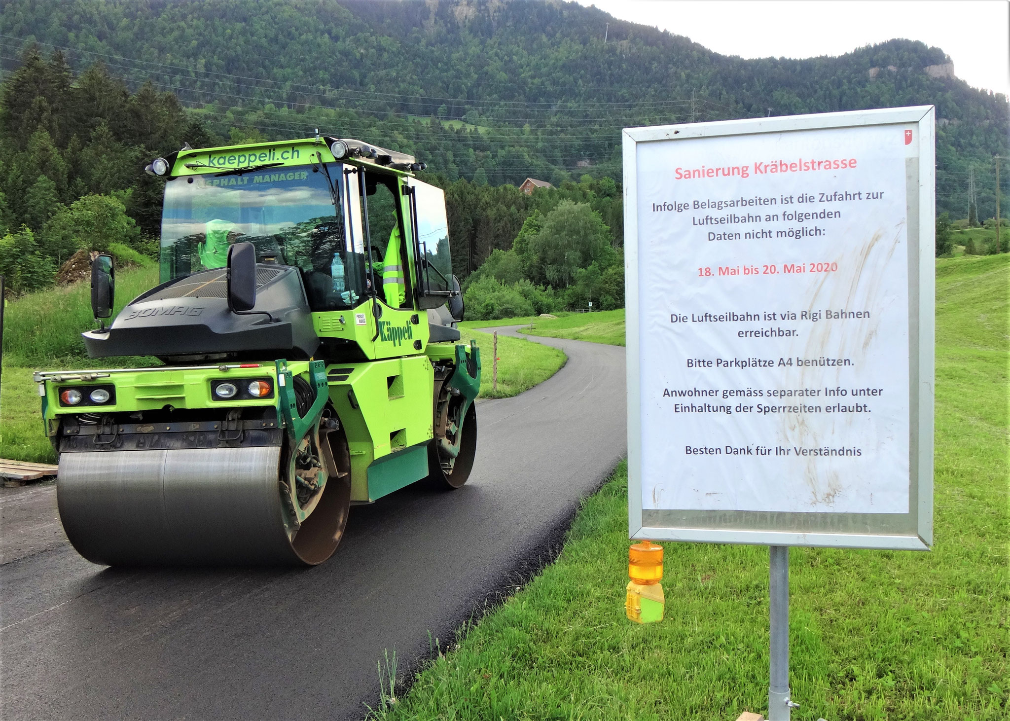 Belagserneuerung Chräbelstrasse, Goldau
