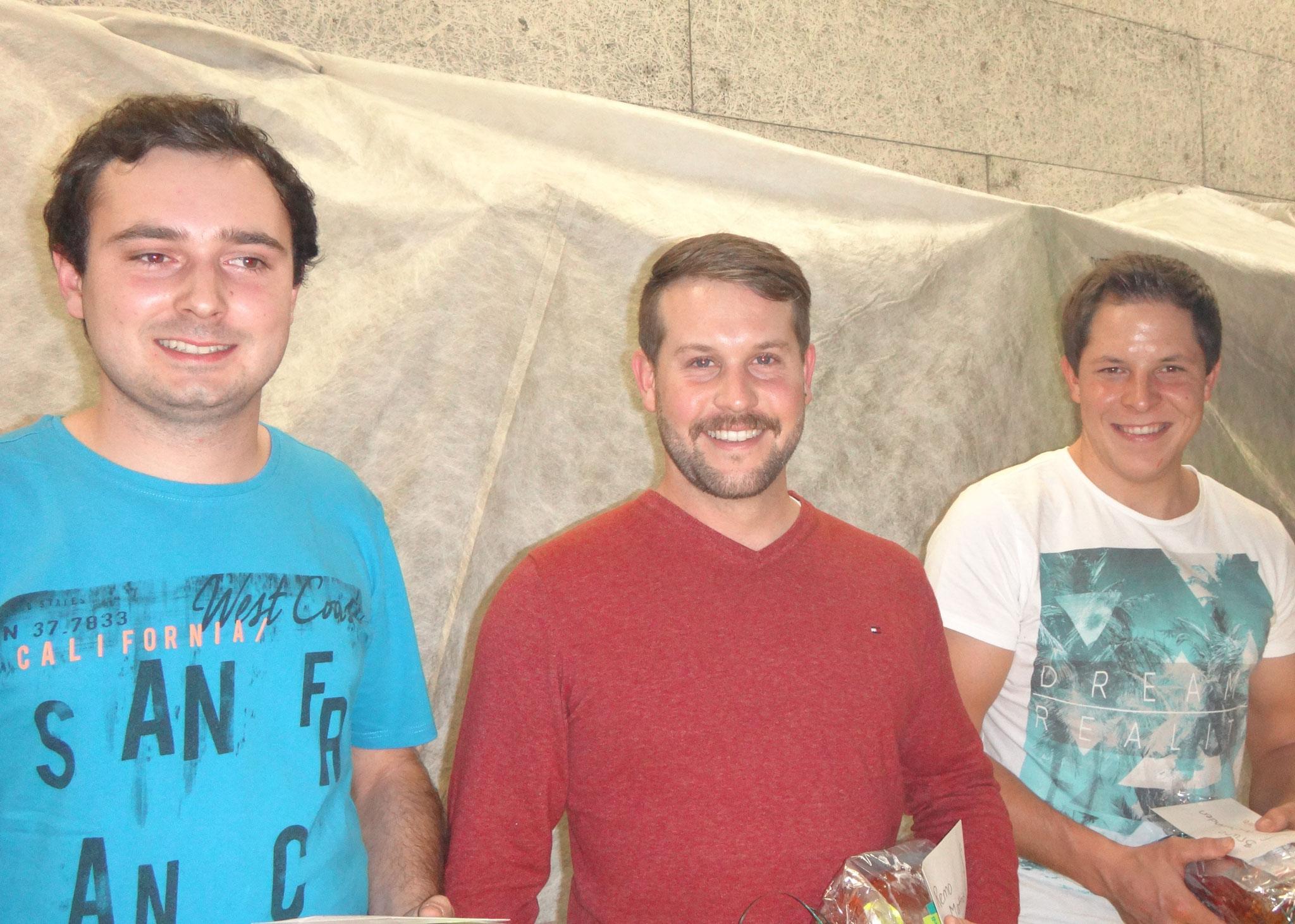 5 Jahre: v.l.n.r.: Simon Rohrer, Remo Mathis und Bruno Aschwanden