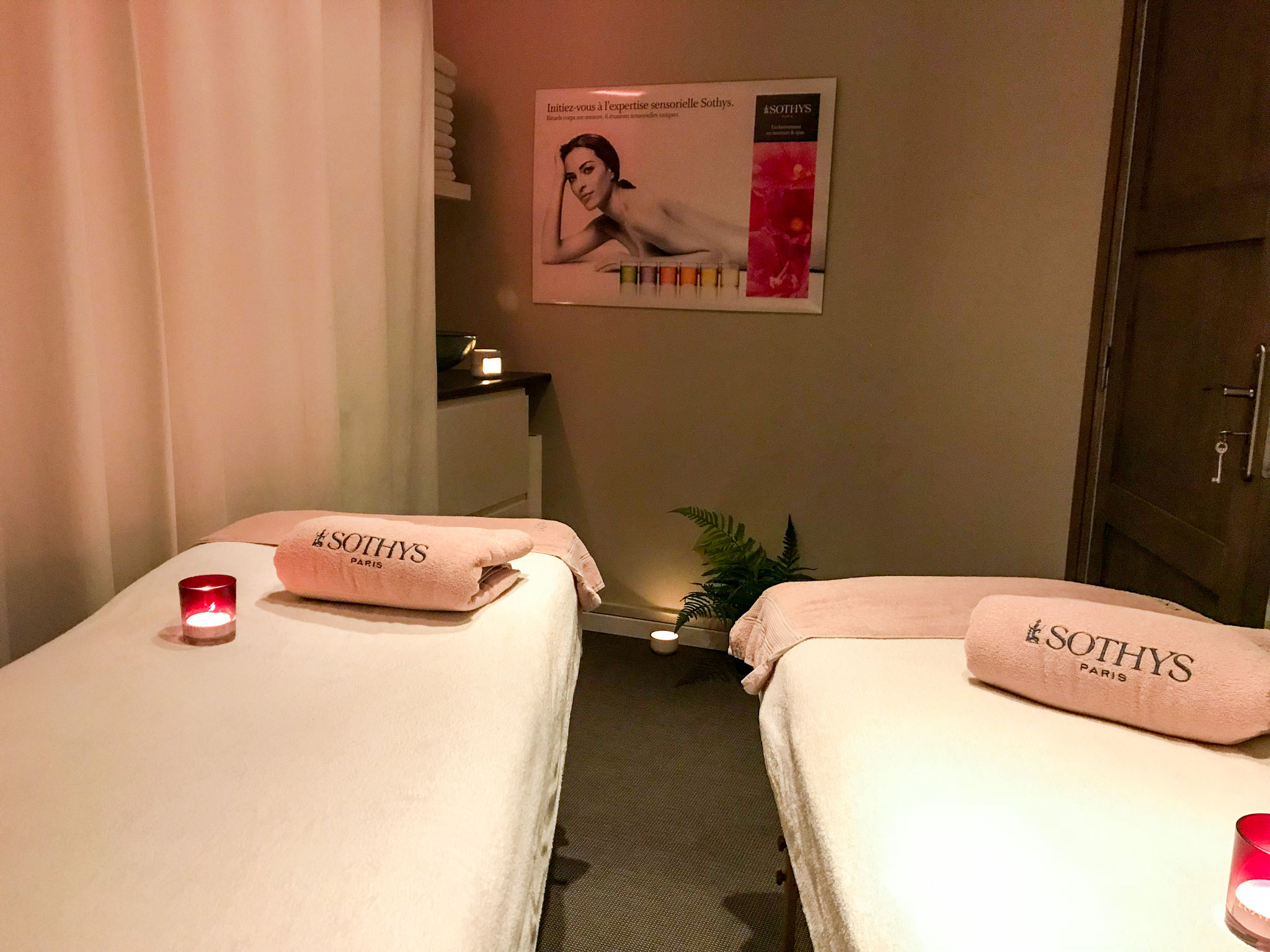 Cabine massage duo Le Patio des Capucines