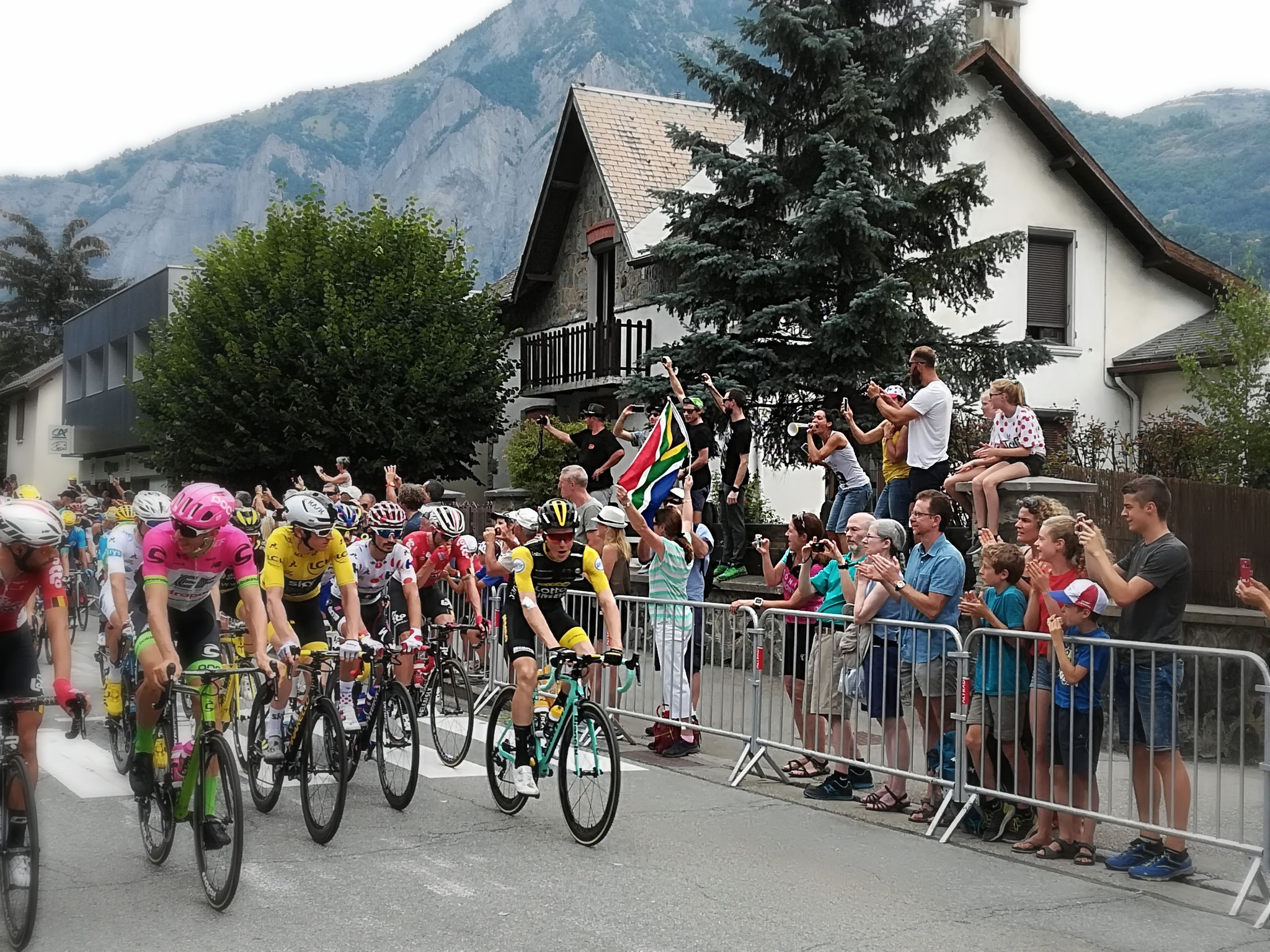 Watch le tour de France from your private terrace or get crazy with the croud