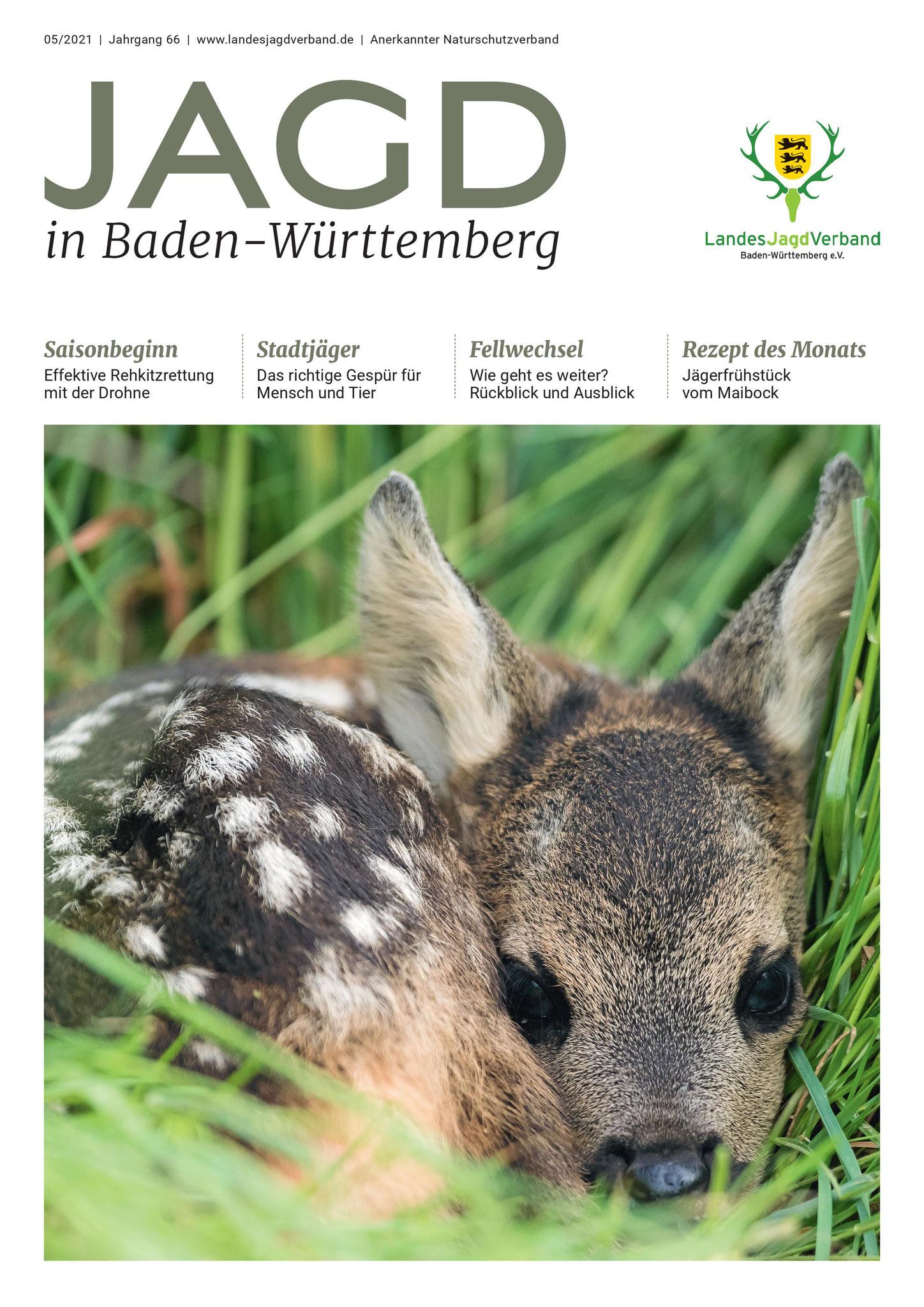 Titelseite der Jagd in Baden-Württemberg Nr. 5/2021