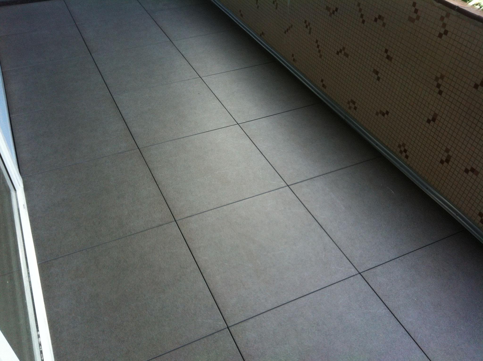 60x60cm Terrassenplatten auf Stelzlager