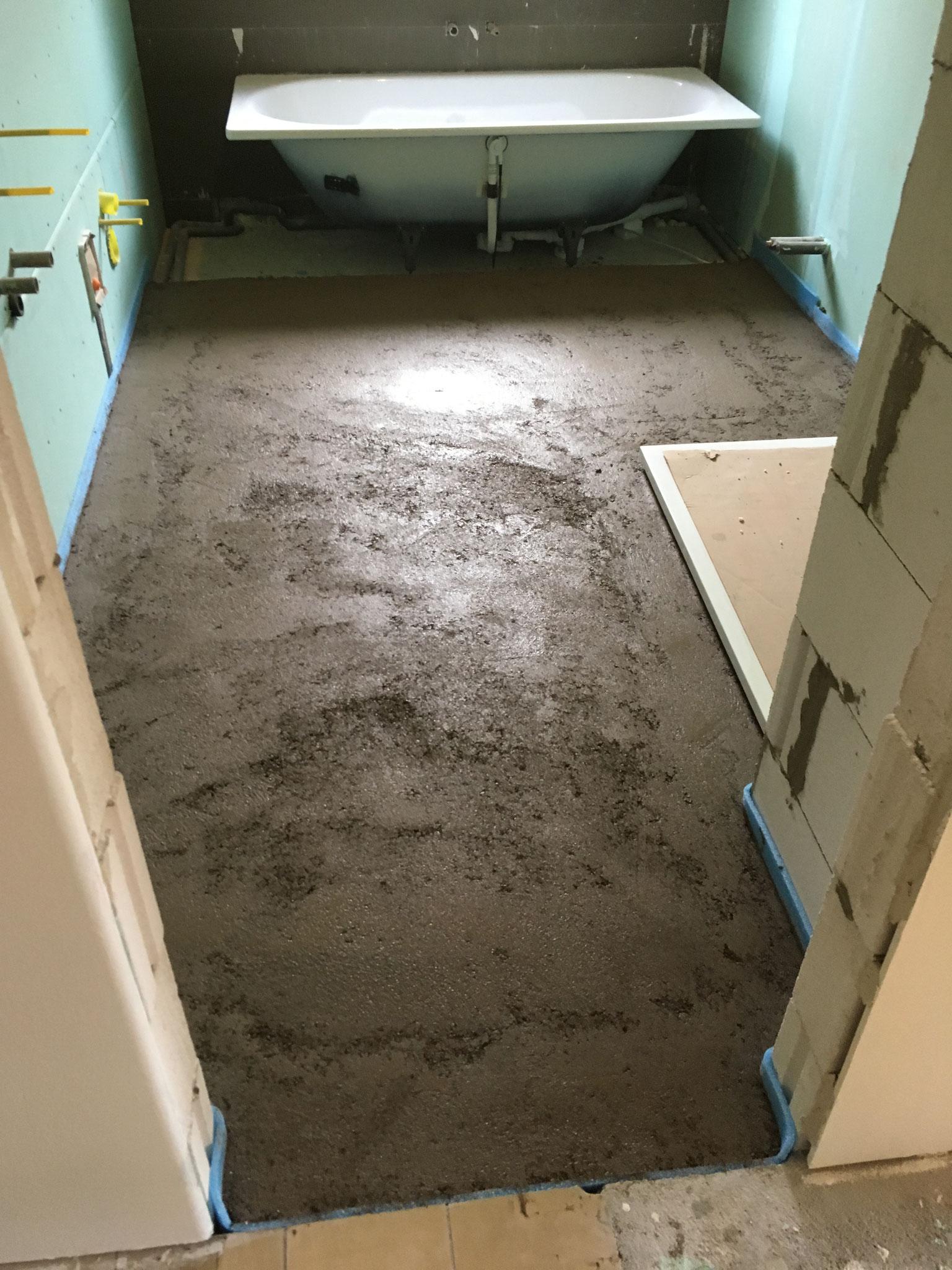 Estrich mit Schlüter-BEKOTEC Fußbodenheizung