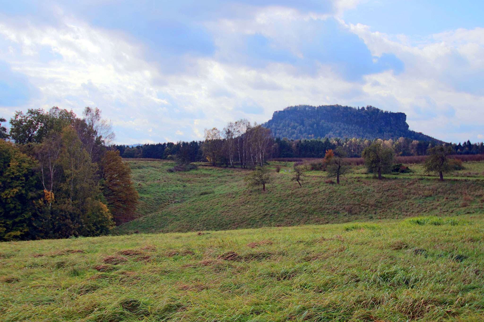 Blick auf den Lilienstein Sächsische Schweiz-Osterzgebirge