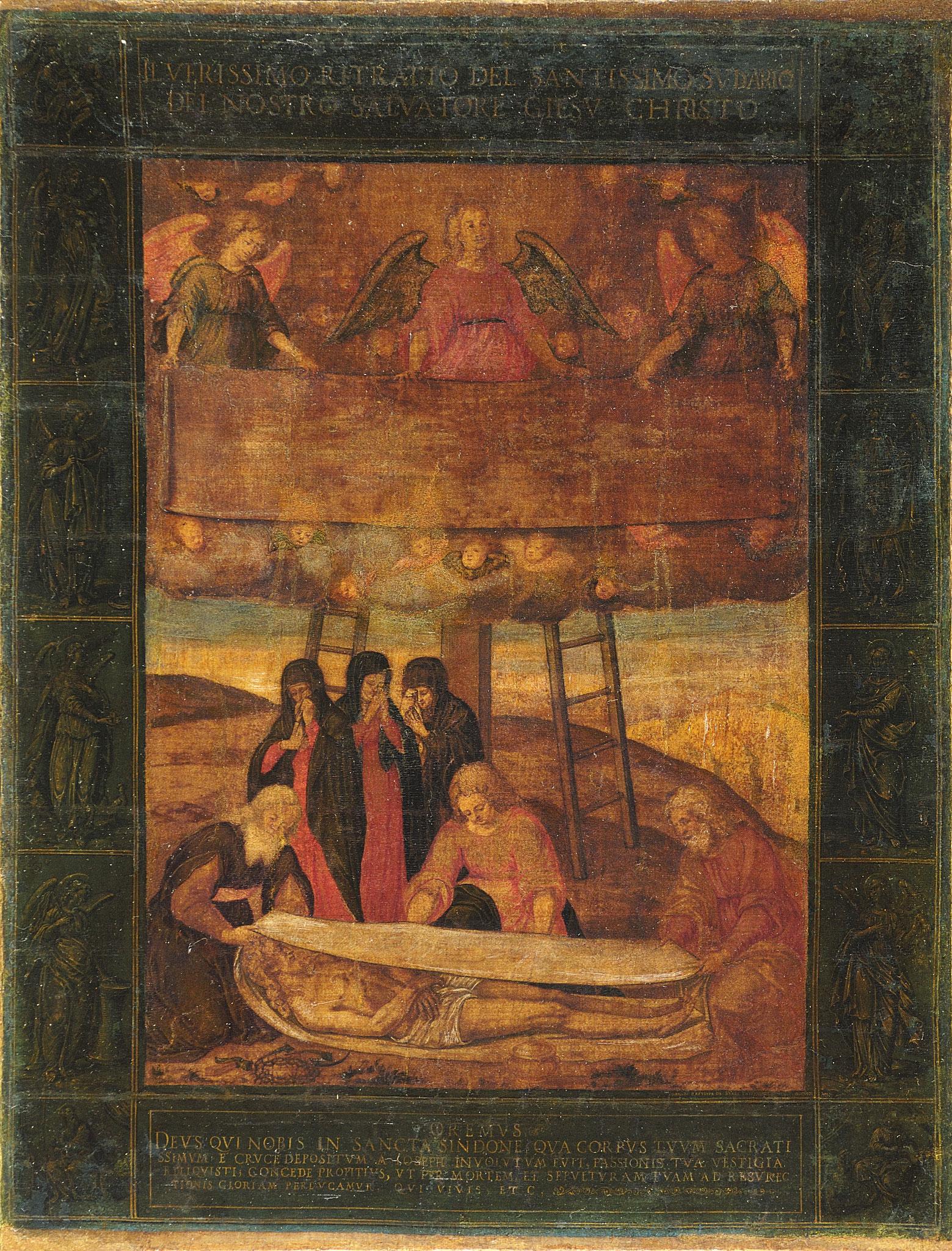 Torino, Museo della Sindone, Giovanni Battista della Rovere, pigmenti su tessuto.