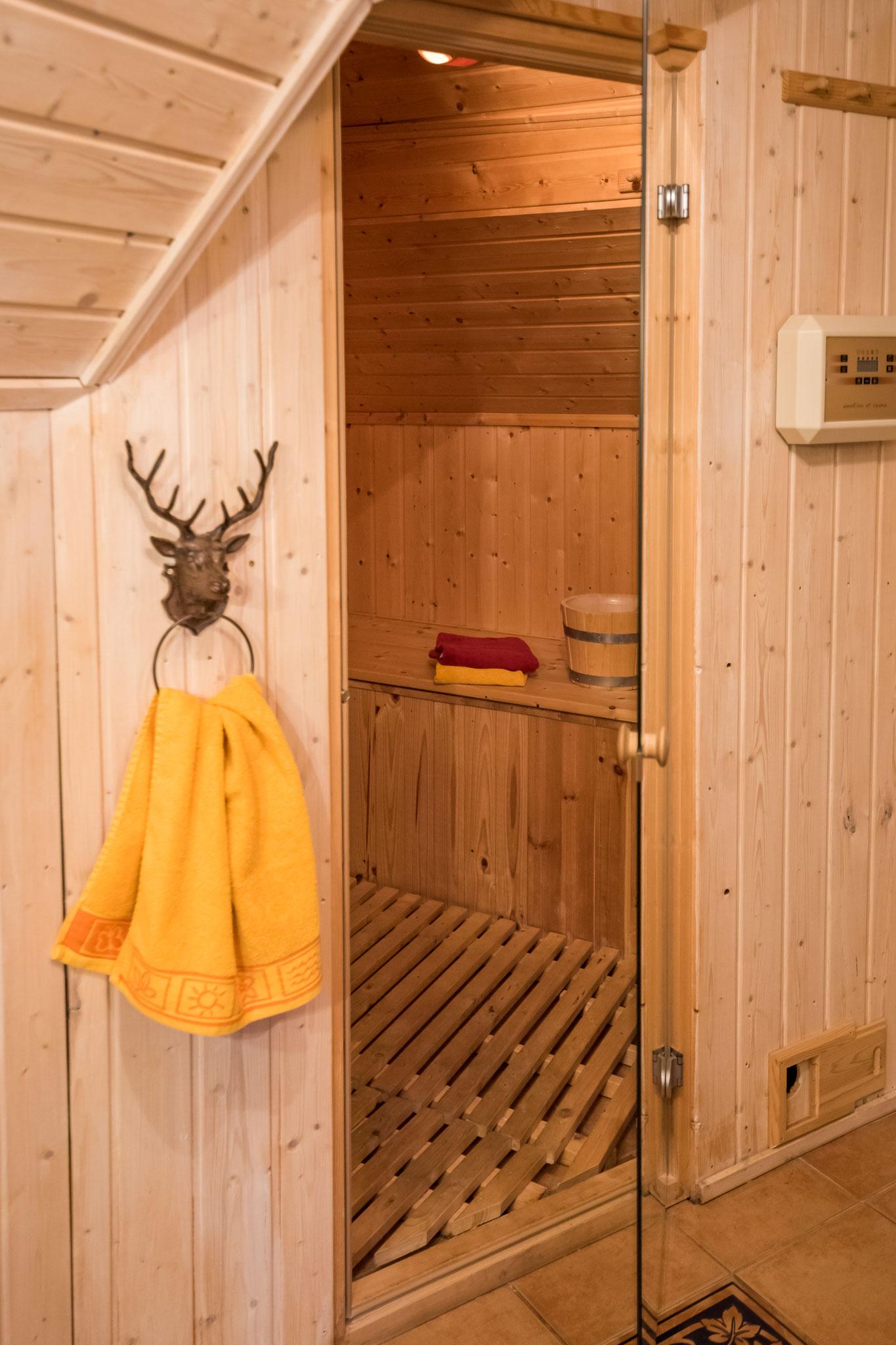 Sauna in Ferienwohnung Wald-Blick