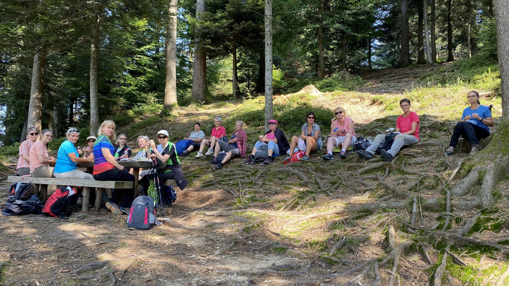 Mittagspause bei Abenteuerspielplatz Schattwäldli