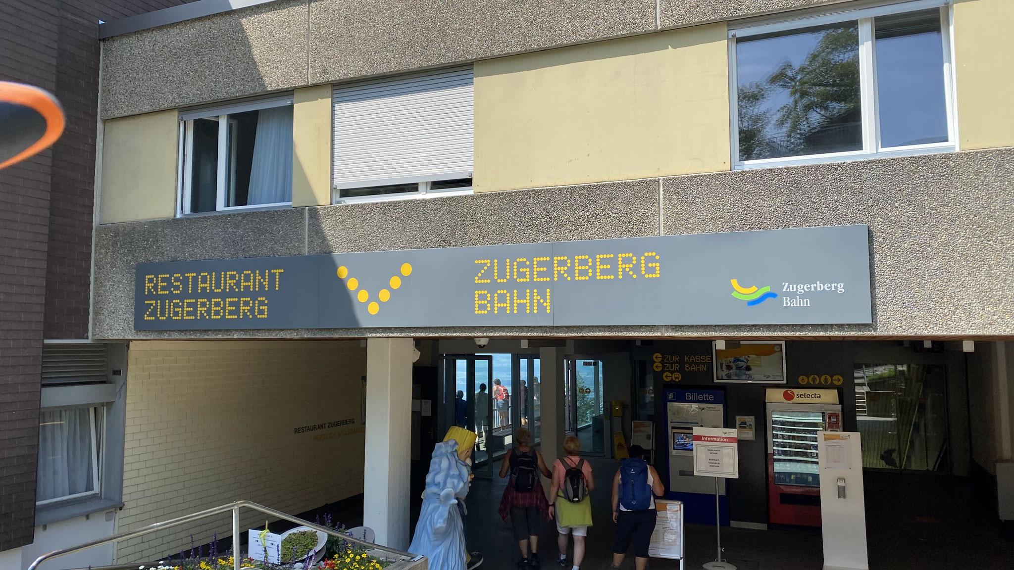zur Zugerbergbahn-Bergstation...