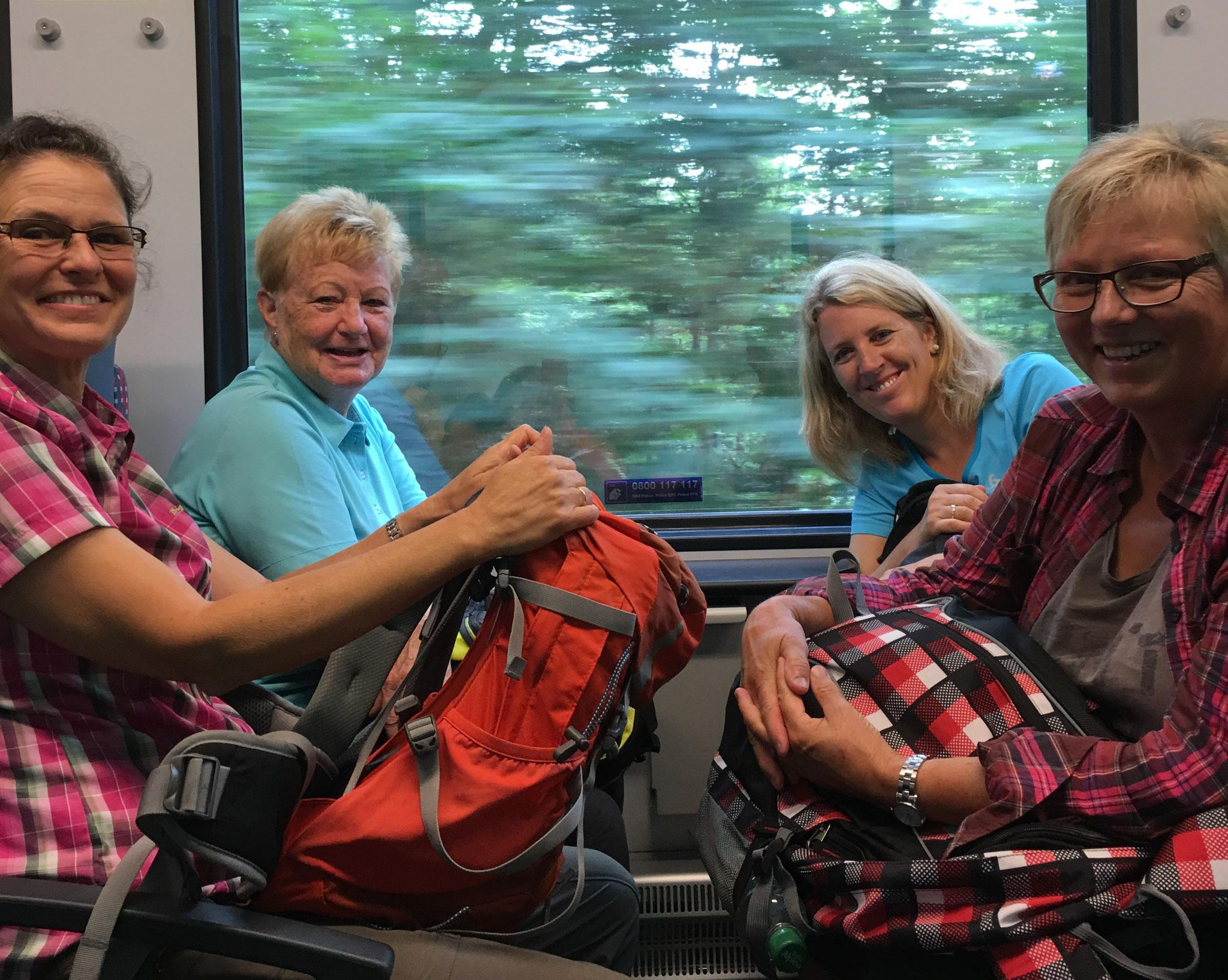 Los geht's am Samstag mit dem Zug nach Uetliburg...