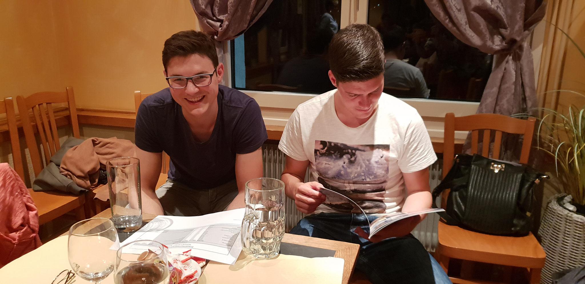 Gäste vom STV: Simon Schnellmann und Christian Bruhin