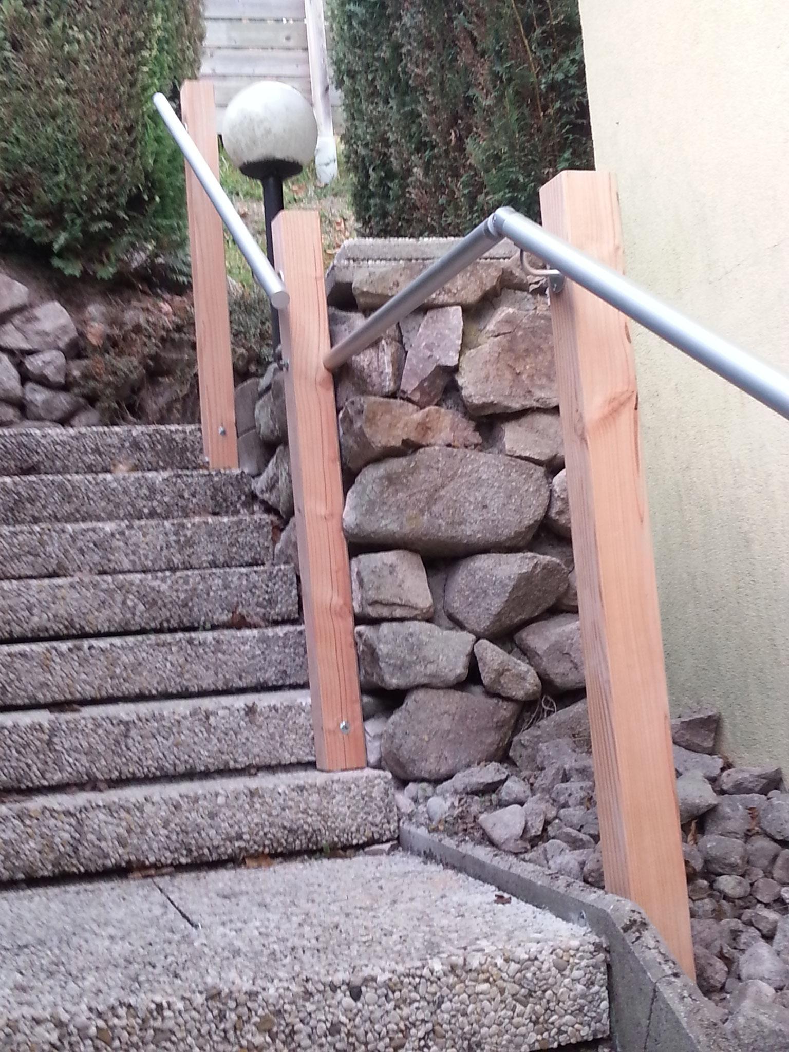 Pose et fabriaction d'une rampe exterieure