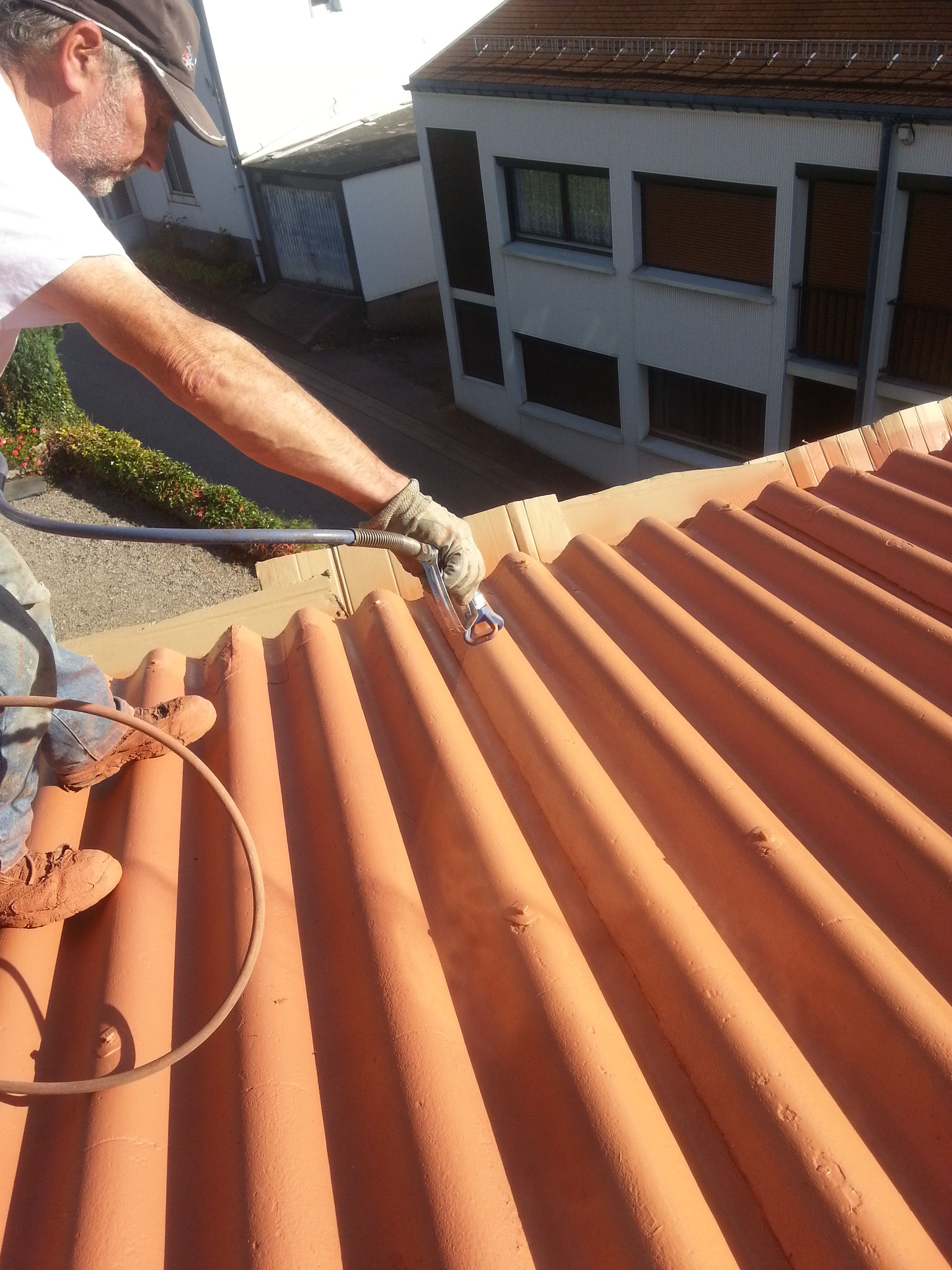 Rénovation toiture chez un particulier