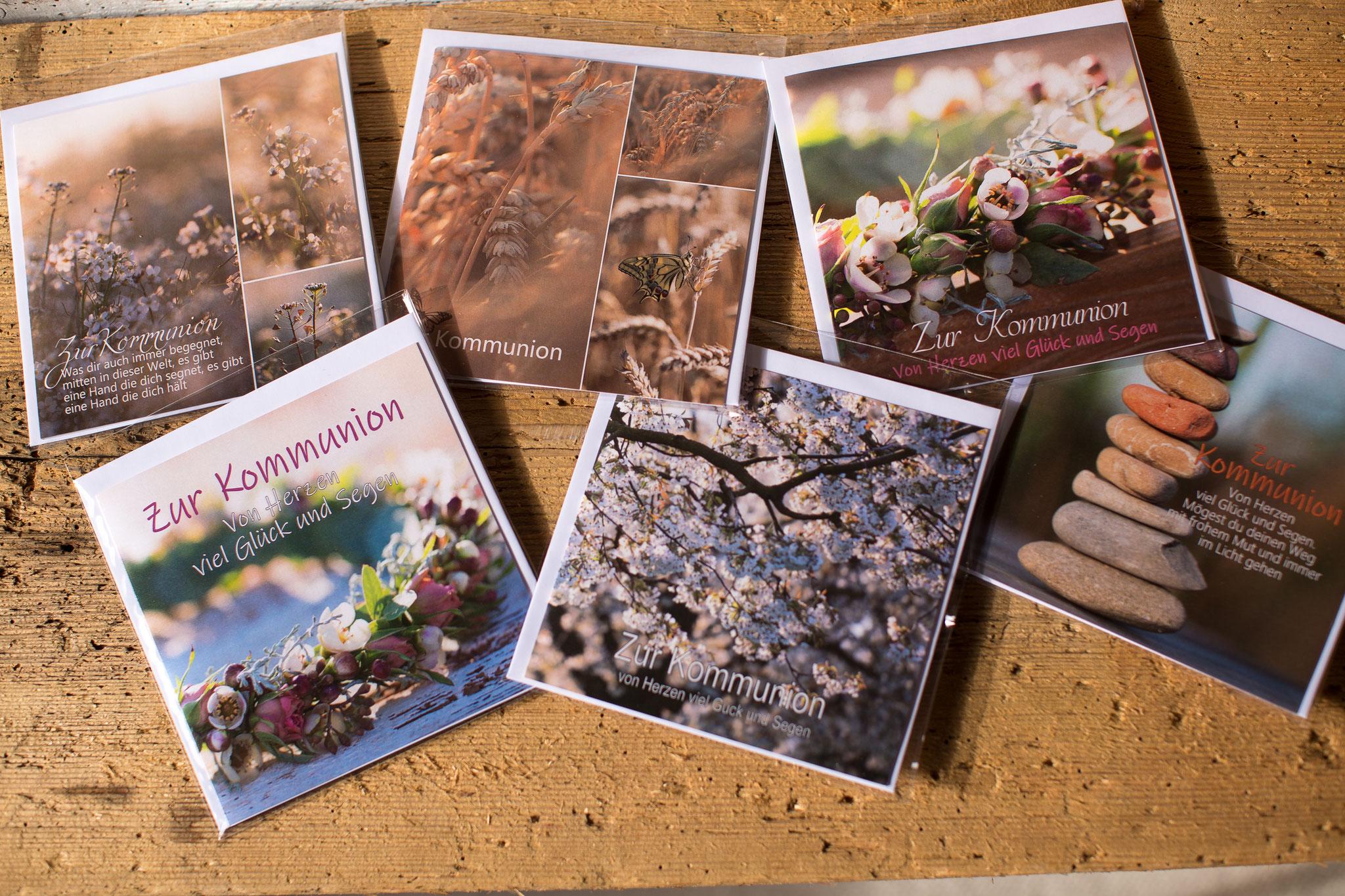 Glückwunschkarte, Kommunion, Erstkommunion, Spruchkarte, Weisser Sonntag, kindgerecht, Kommunionspruch