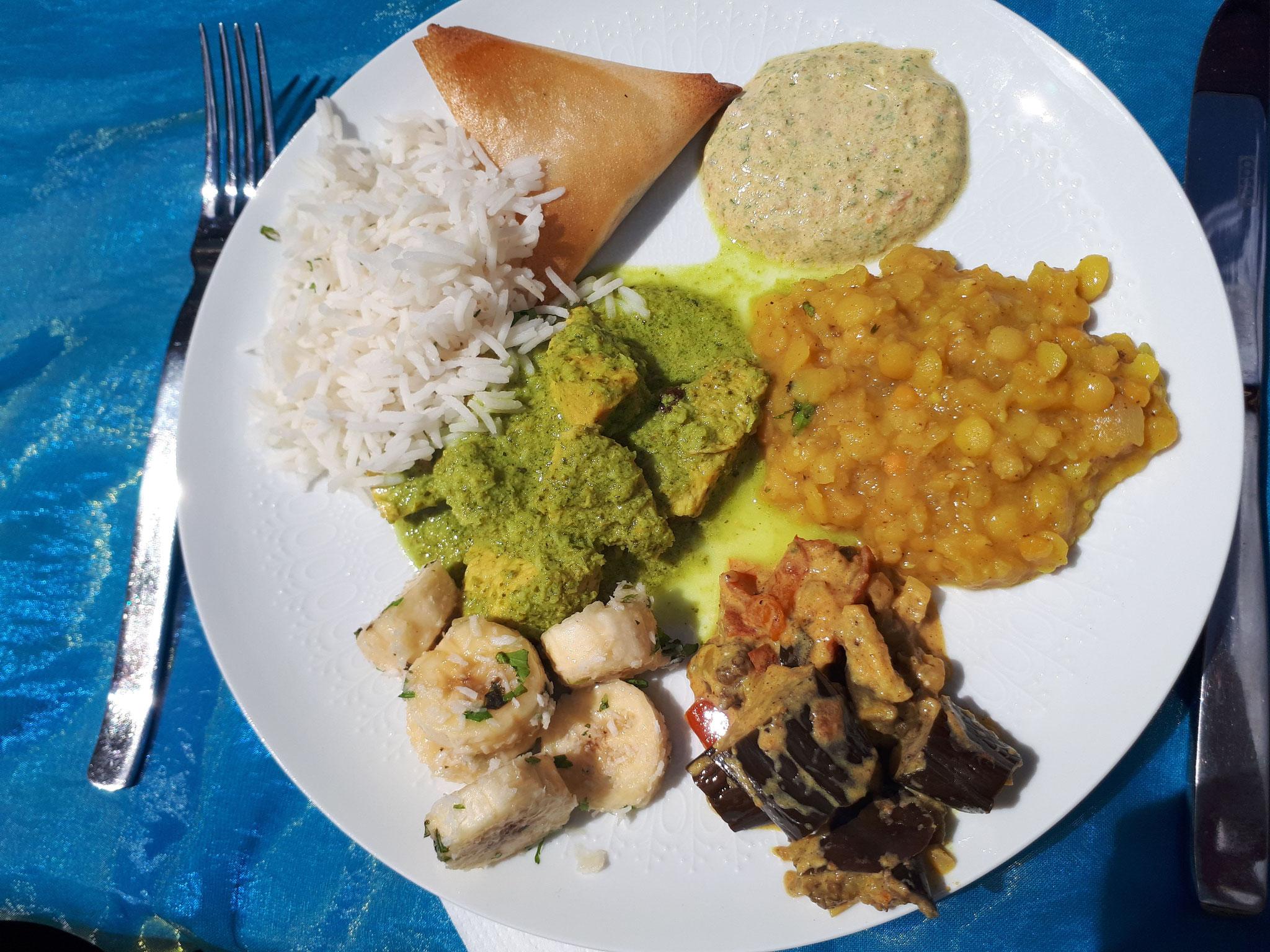 assiette de délices indiens