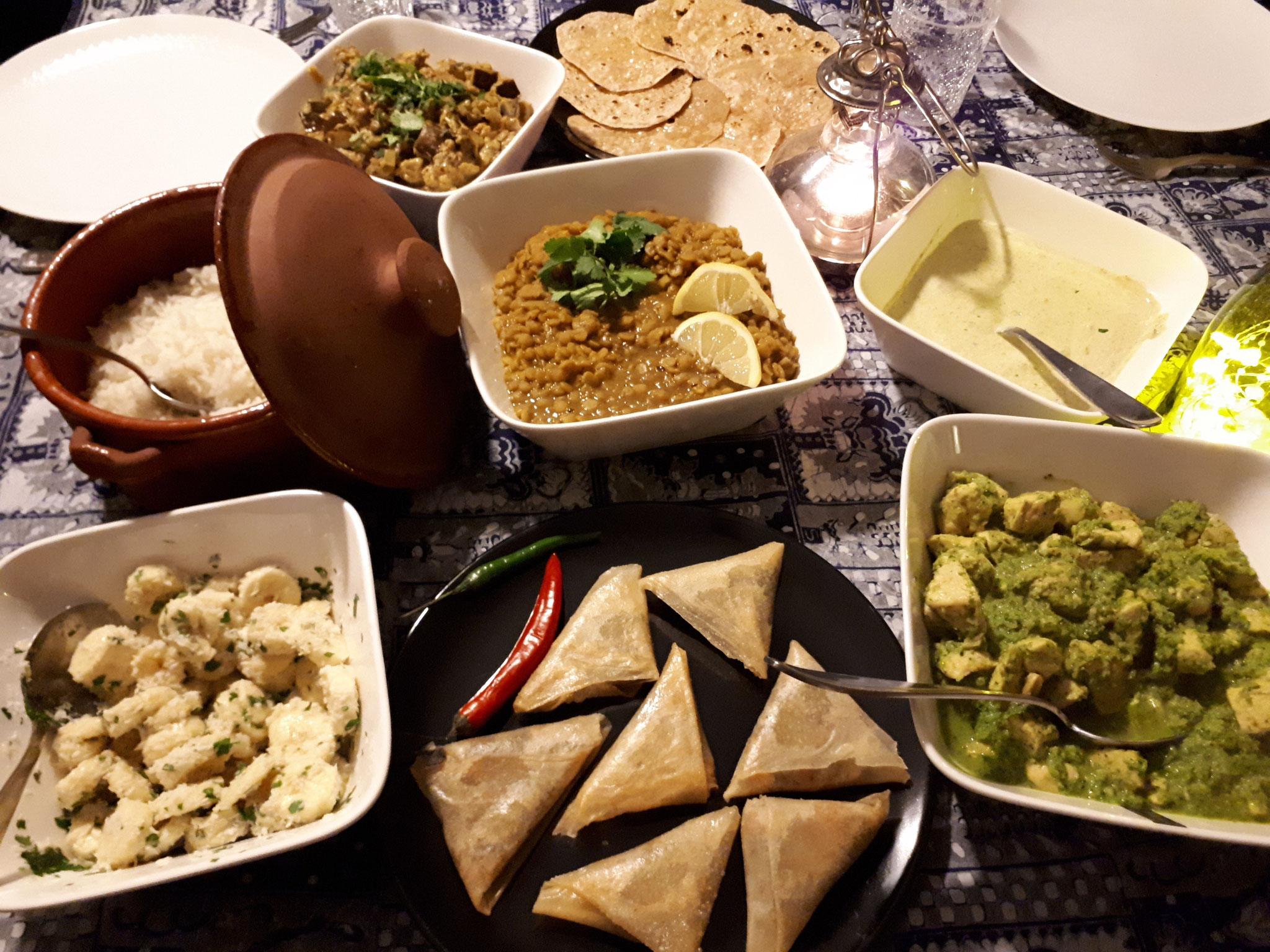 délicieux plats indiens
