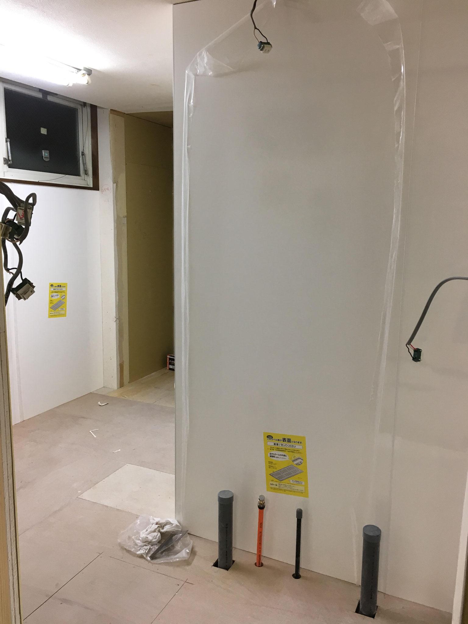 厨房/不燃耐水パネル仕上げ