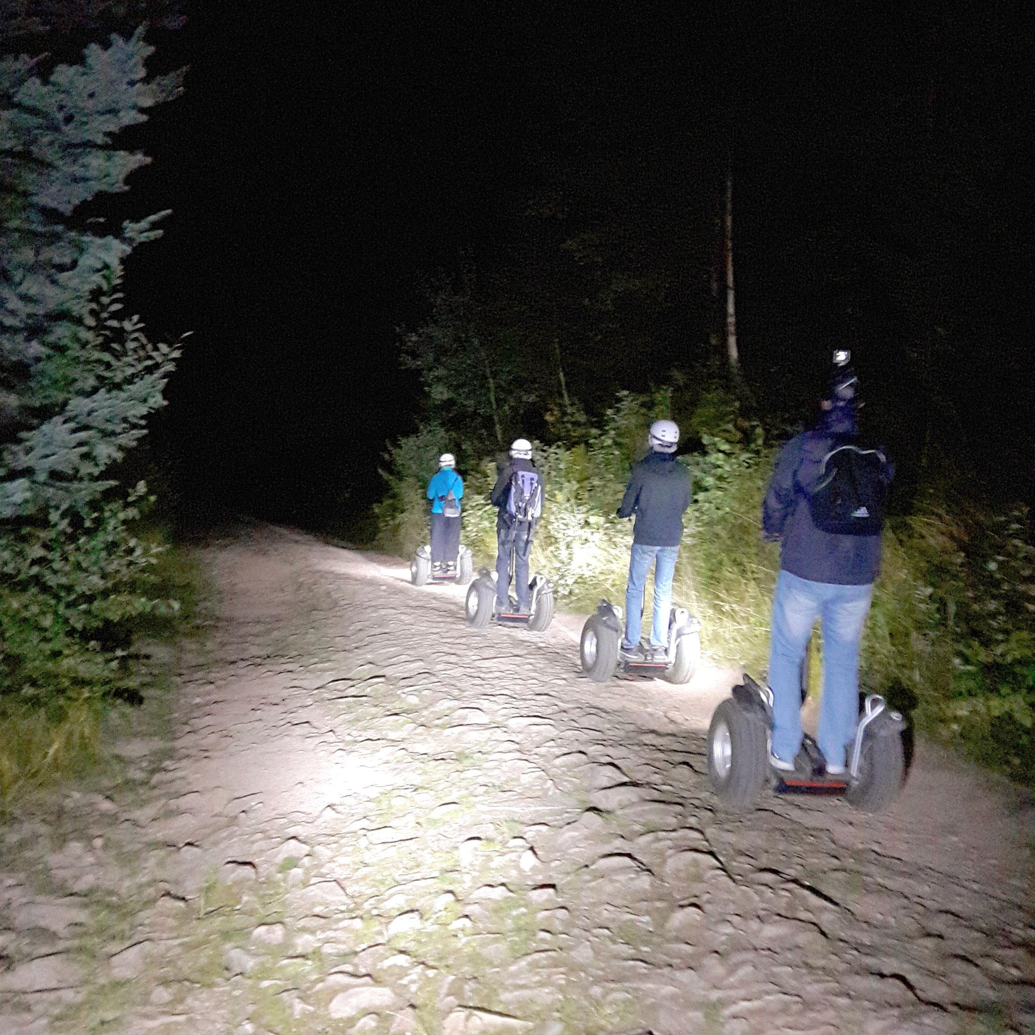 Ferme auberge Strohberg - retour nocturne avec les loups!