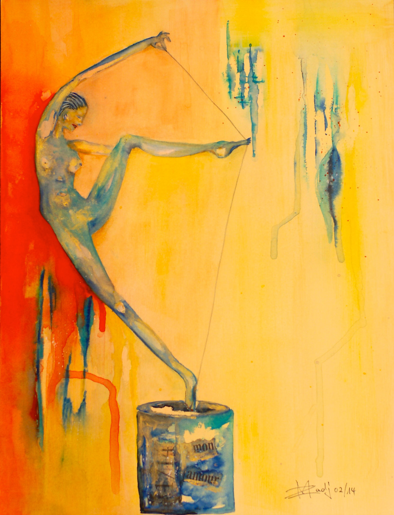 Zeitspanne/1 Aquarell 31X41cm Bild Nr.10 Verkauft