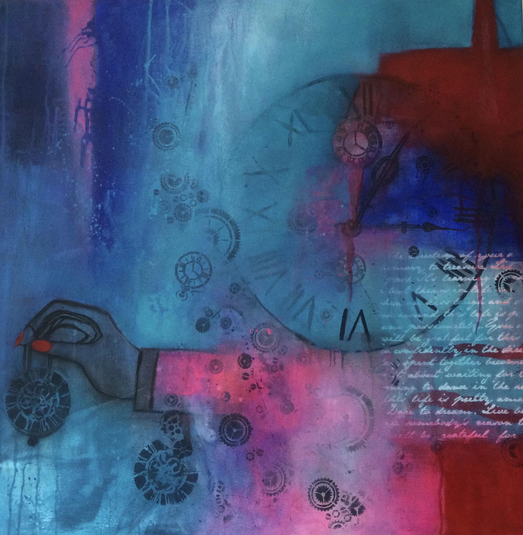 Zeit 80X80X4cm Öl auf Acryl Bild Nr.104 Preis auf Anfrage