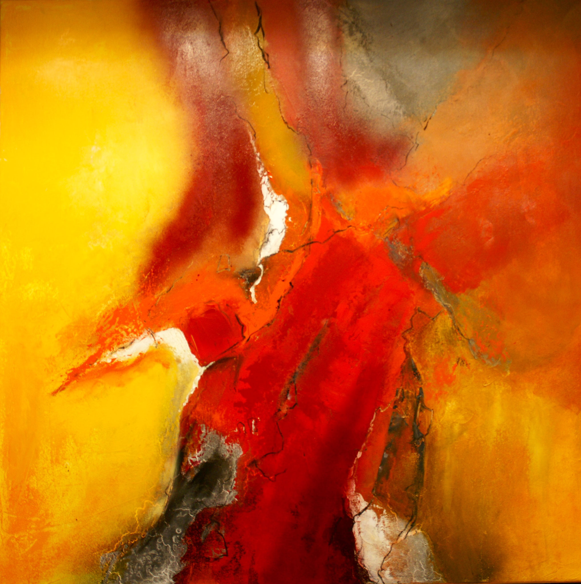 Leidenschaft 80X80X4cm Öl auf Acryl Bild Nr.82 Preis auf Anfrage