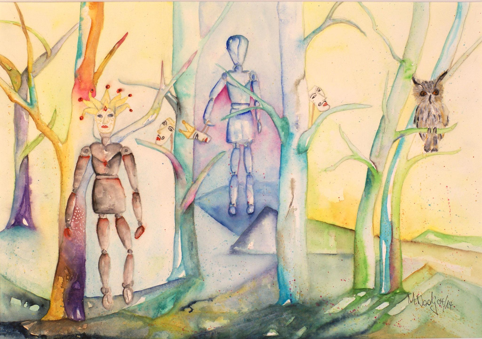 Zauberwald Aquarell 36X51cm Bild Nr.44 unverkäuflich
