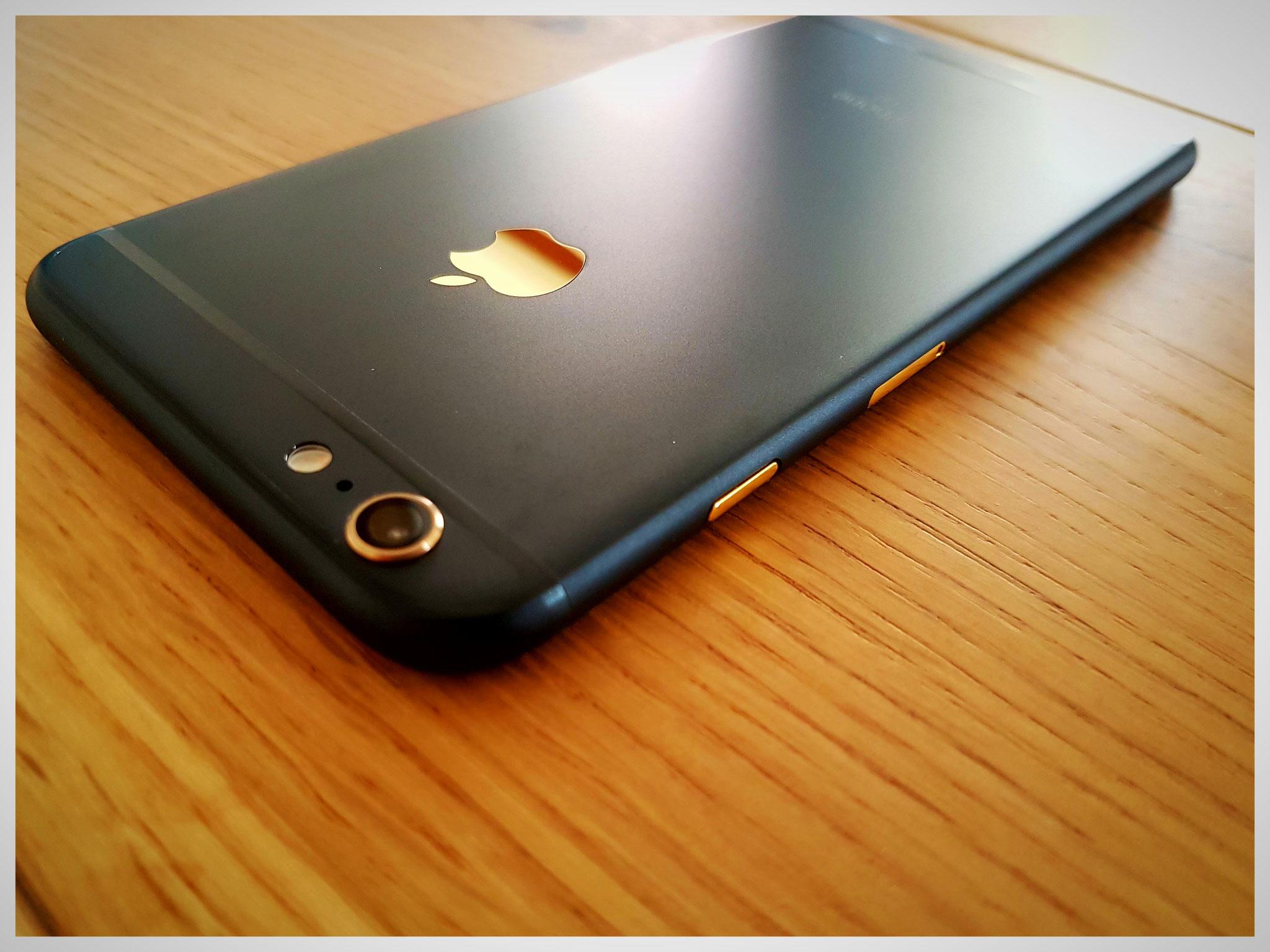 iPhone 6s plus. Ausgangsfarbe: space gray