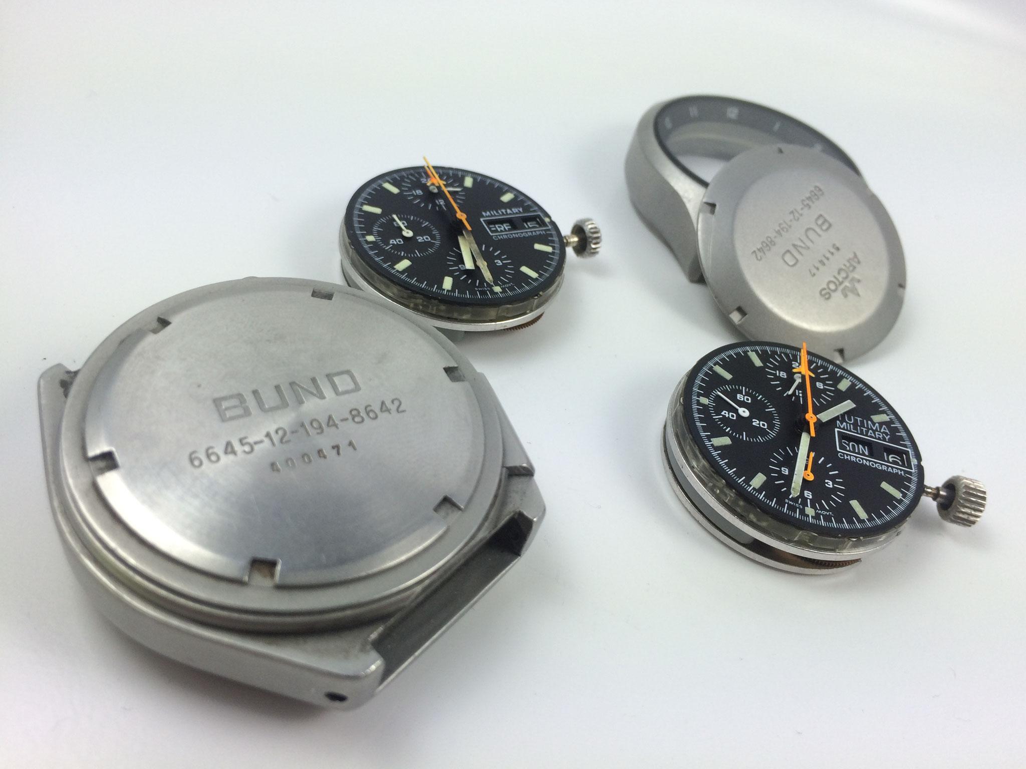 Tutima Bund und Arctos Bund Gehäuse und Lemania 5100 Uhrwerke