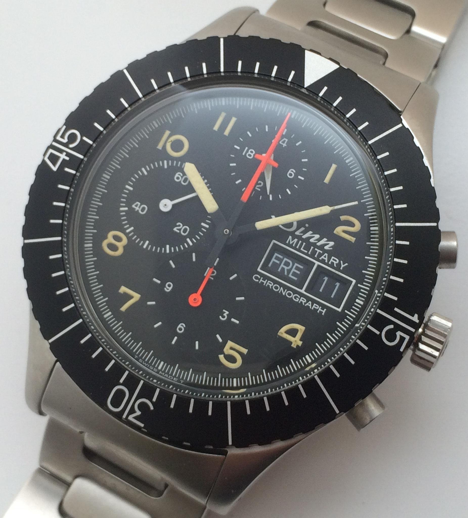 Sinn Military Chronograph Ref. 156 mit Lemania 5100 aus den achtziger Jahren