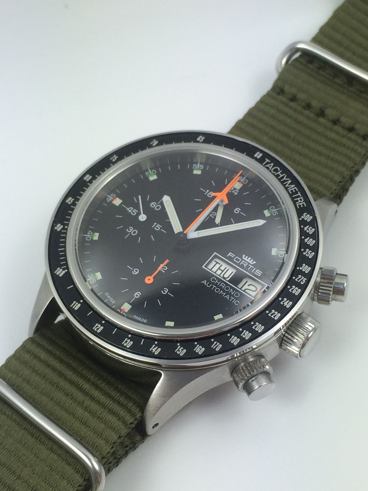 Fortis Stratoliner Chronograph Ref. 571.10.42 aus den achtziger Jahren