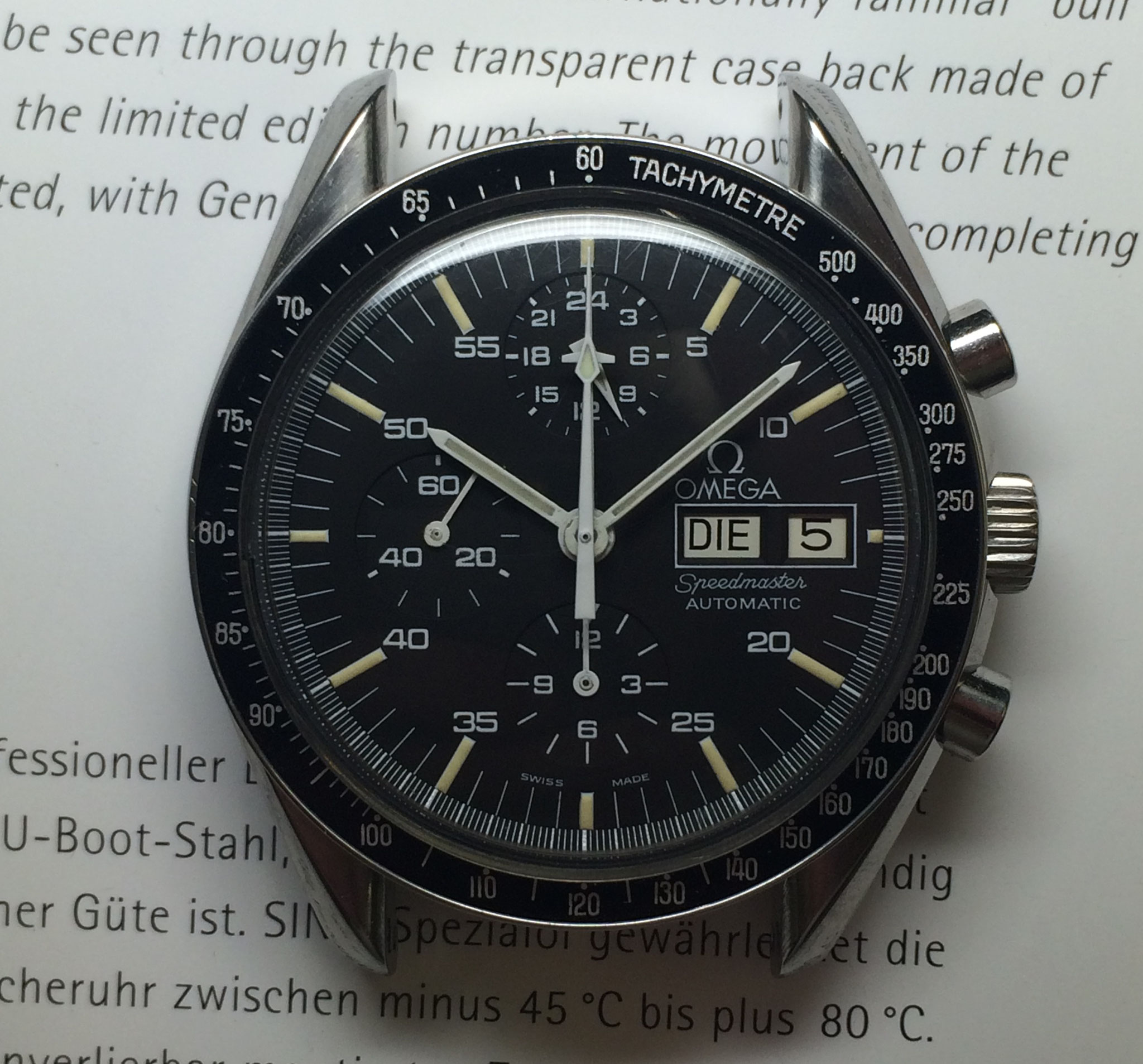 Omega Speedmaster Chronograph Ref. 376.0822 sogenannte Holy Grail mit Lemania 5100