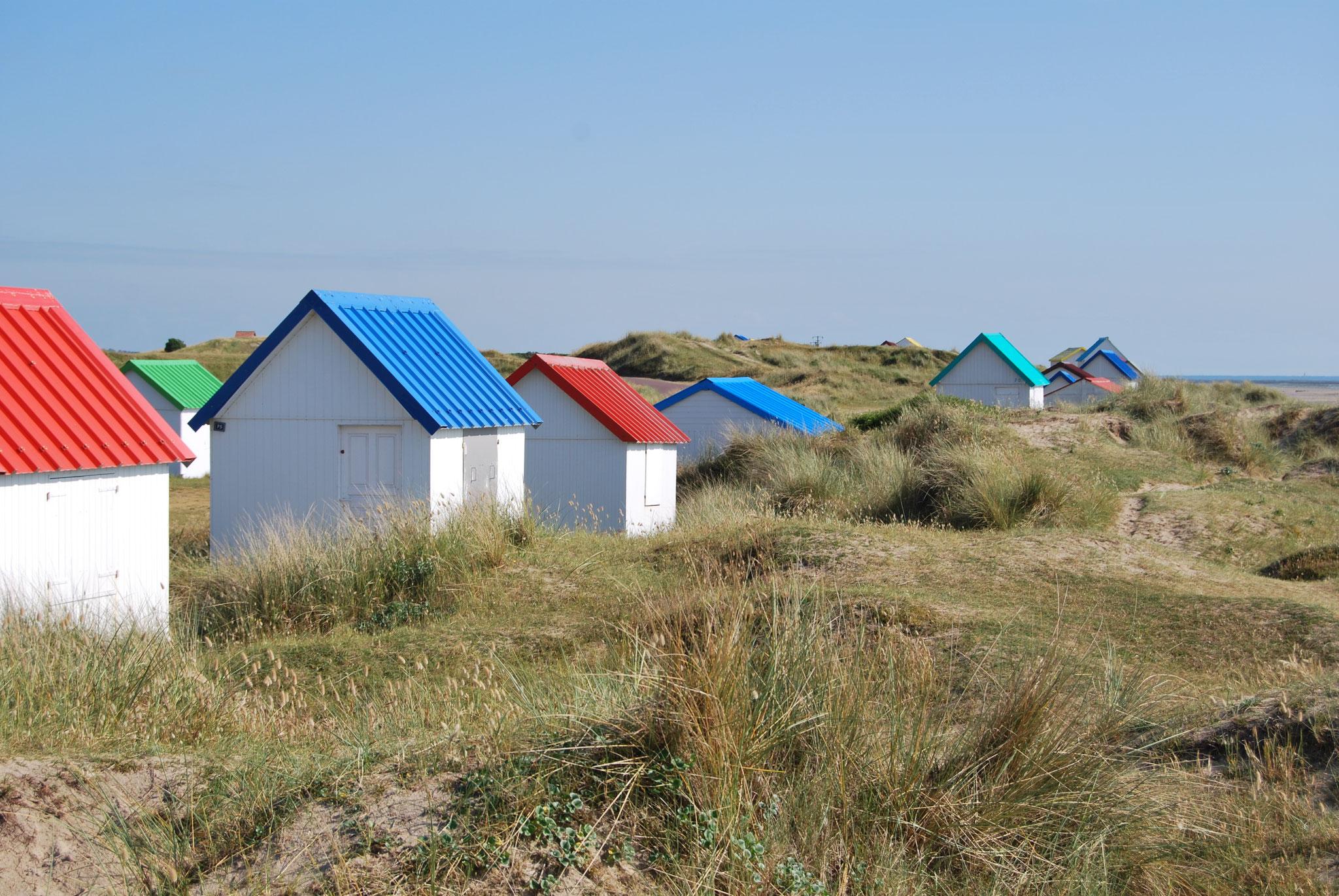 Les petites cabines de Gouville sur Mer