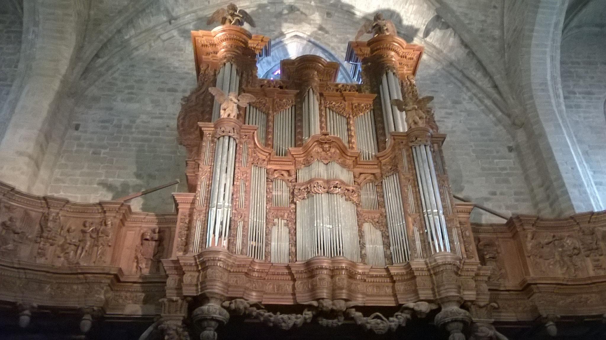 La Chaise Dieu - les orgues de l'abbaye