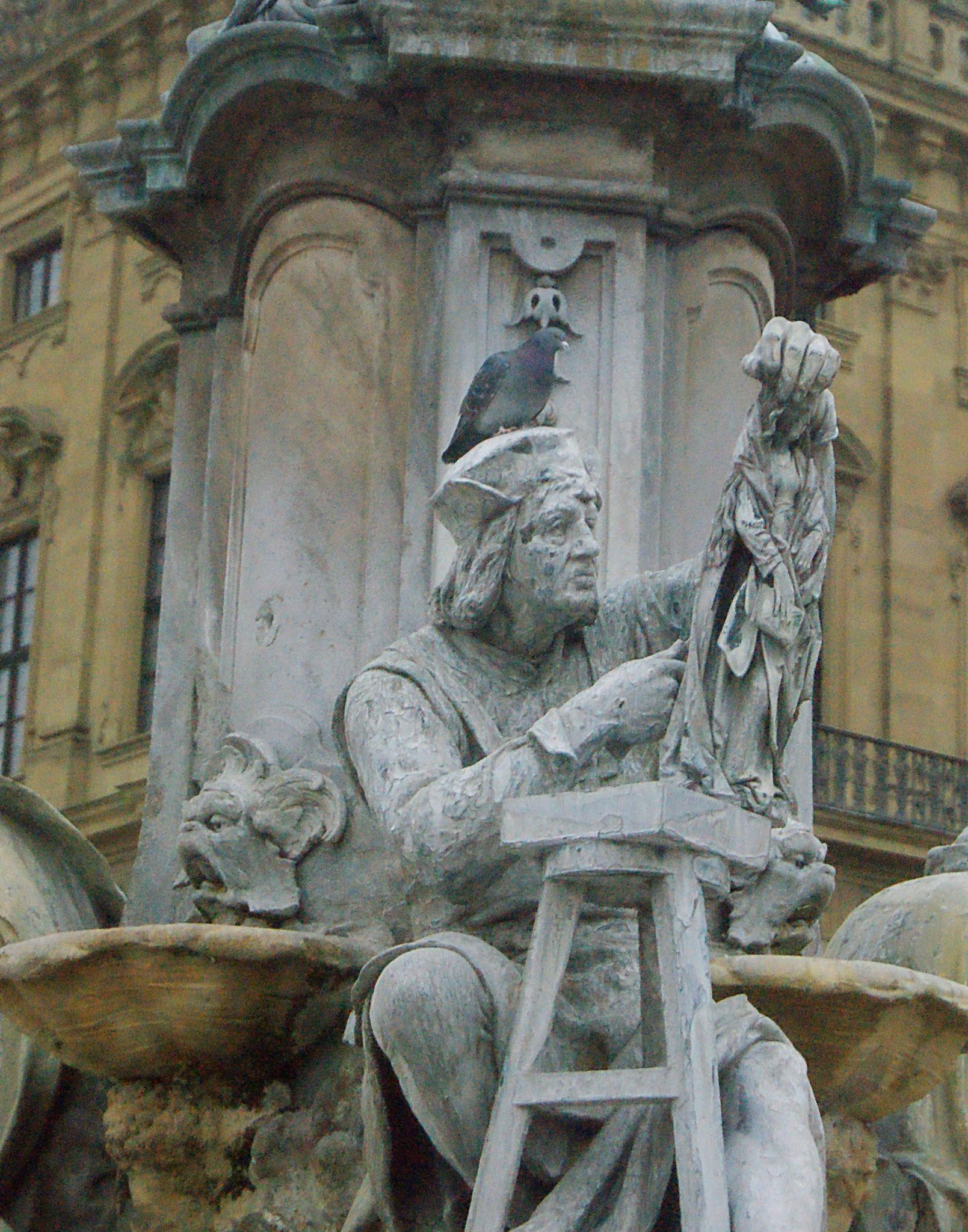 Tilman Riemenschneider am Frankoniabrunnen, Würzburg
