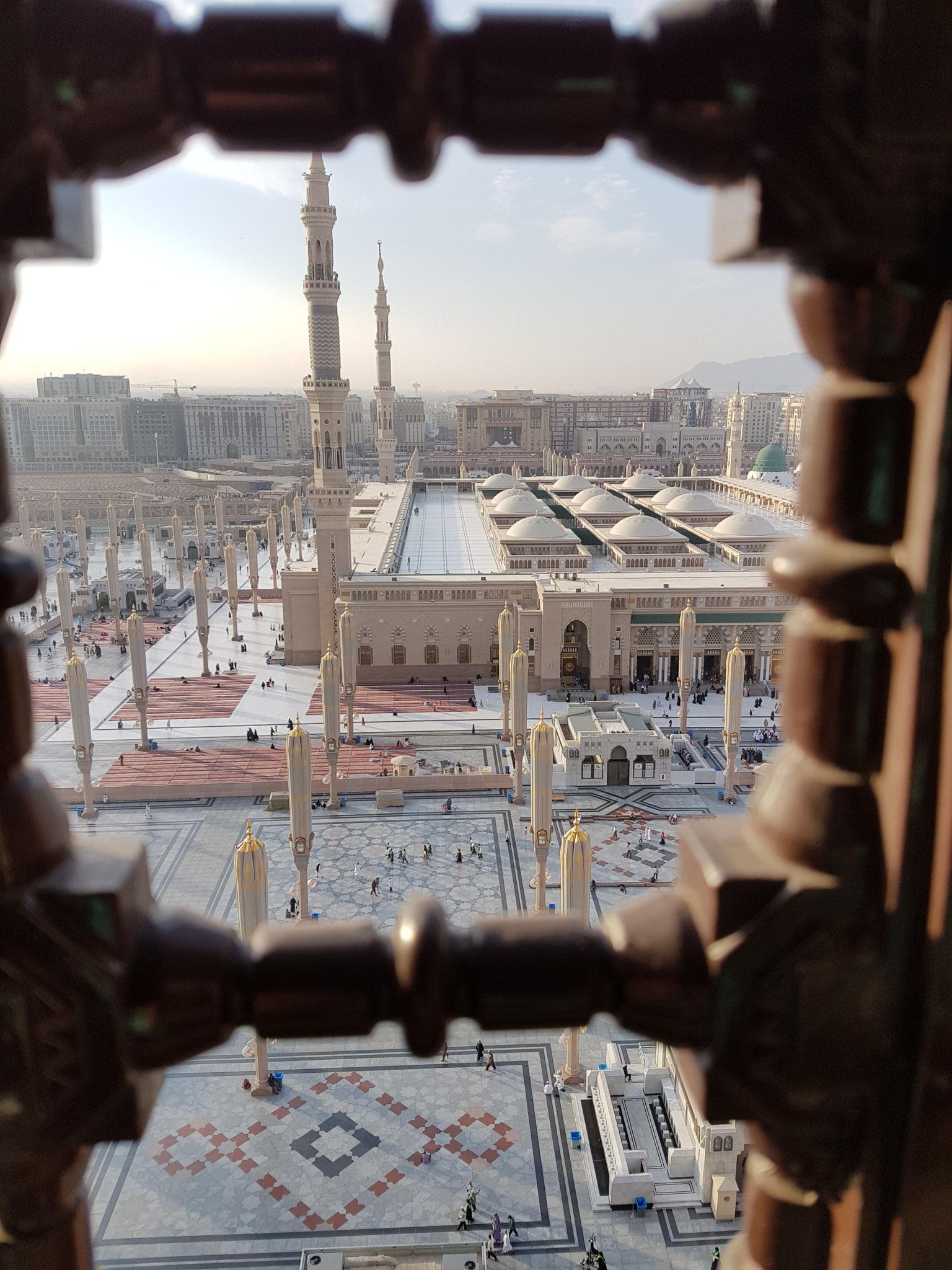 Der Ausblick aus unserem Fenster im 14. Stock