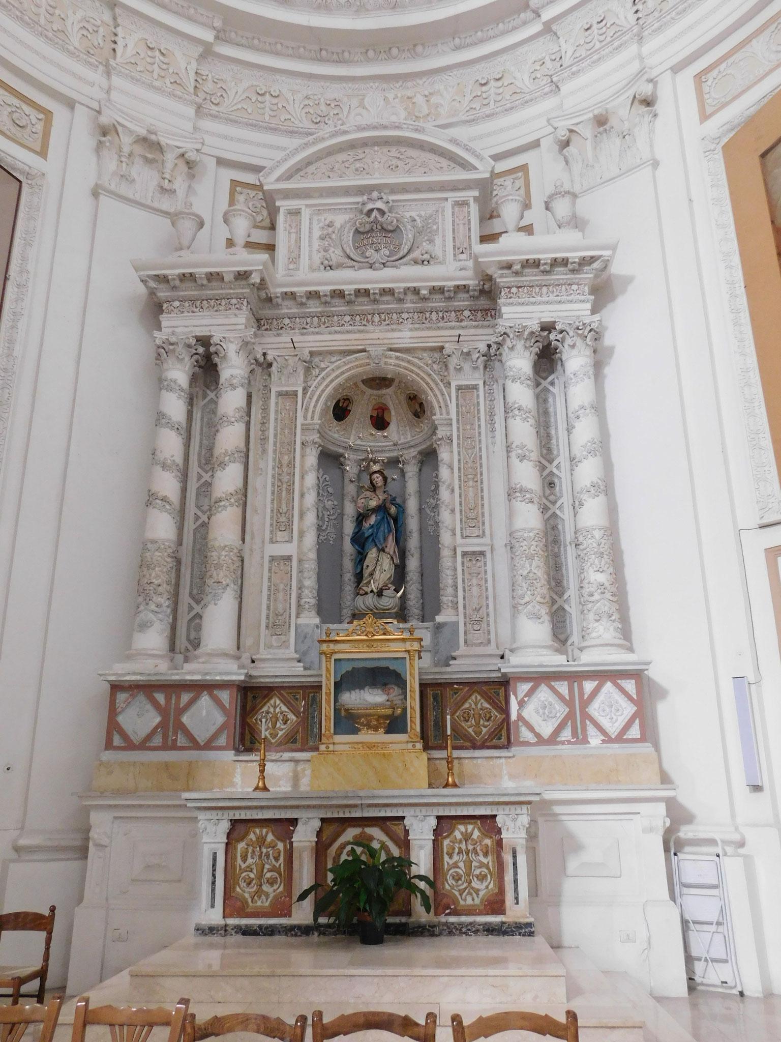 Altare dell' Immacolata Concezione.