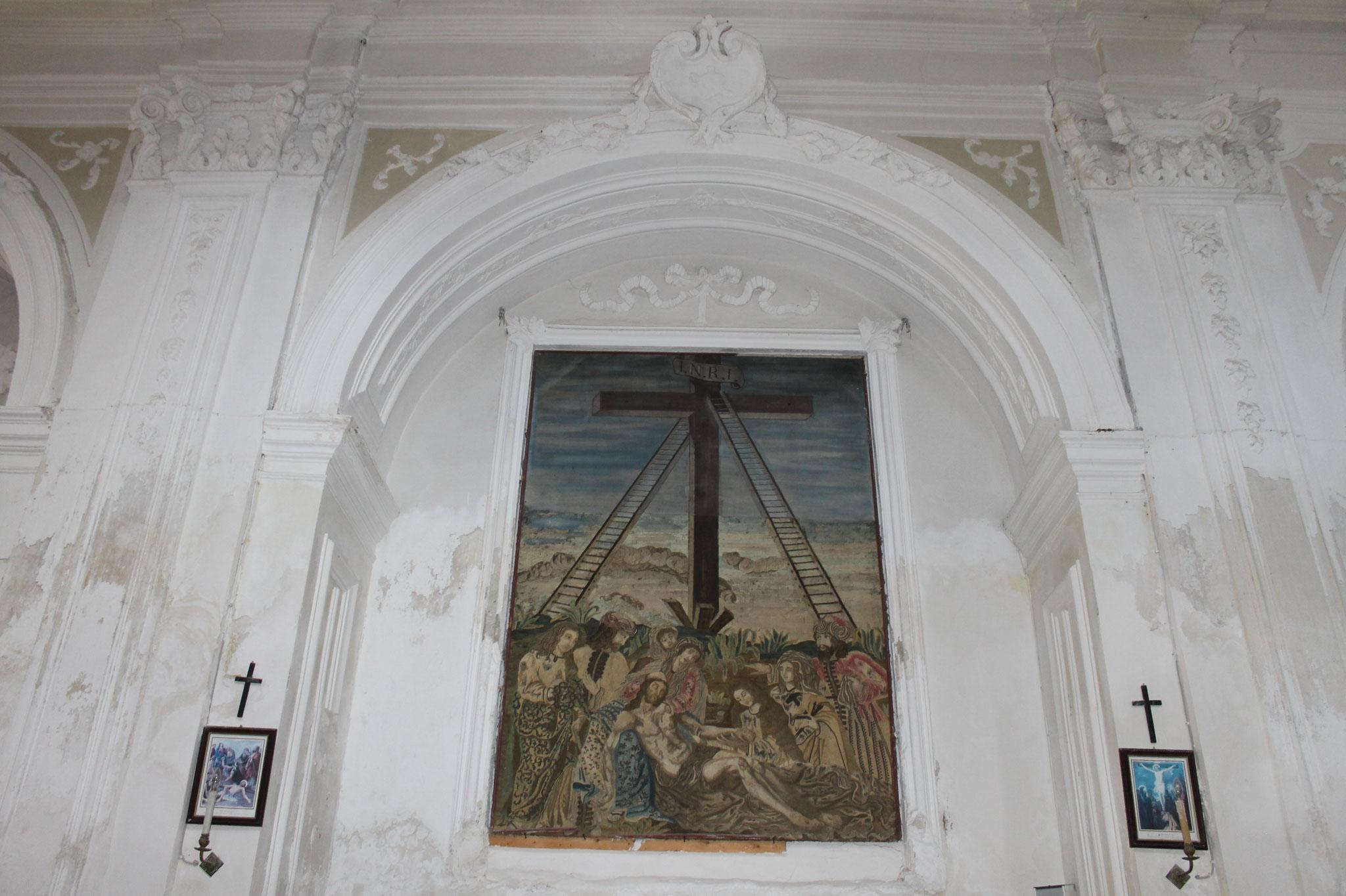 arazzo fiammingo della Deposizione dalla Croce