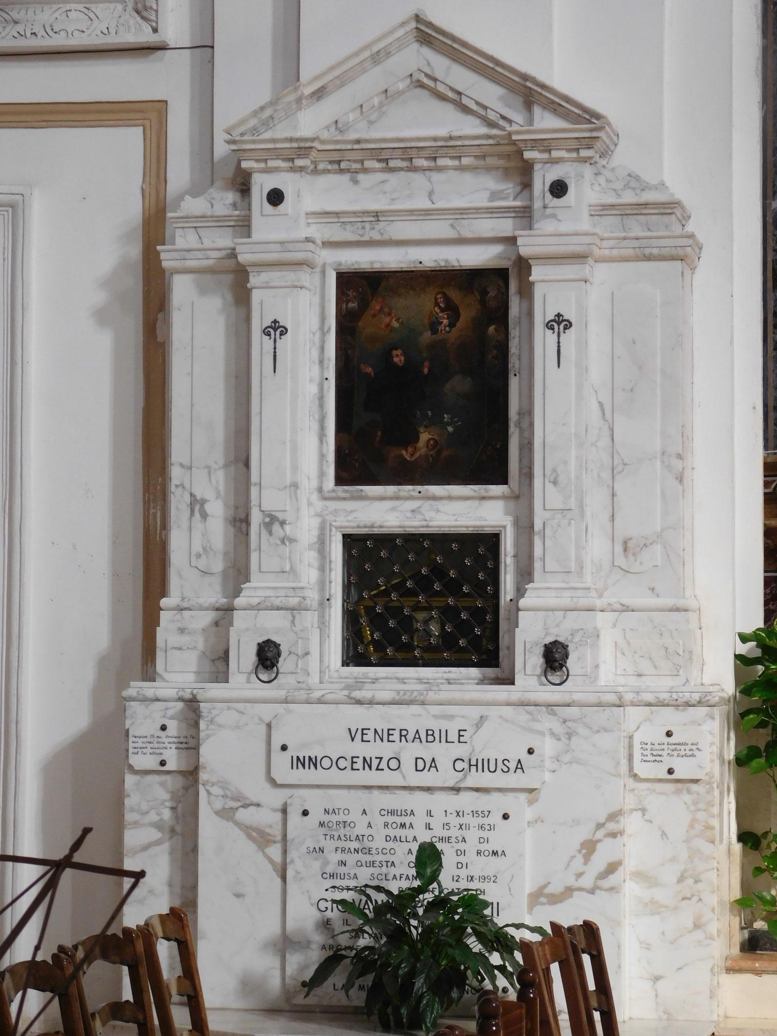 Monumento funebre Venerebile Fra' Innocenzo da Chiusa.