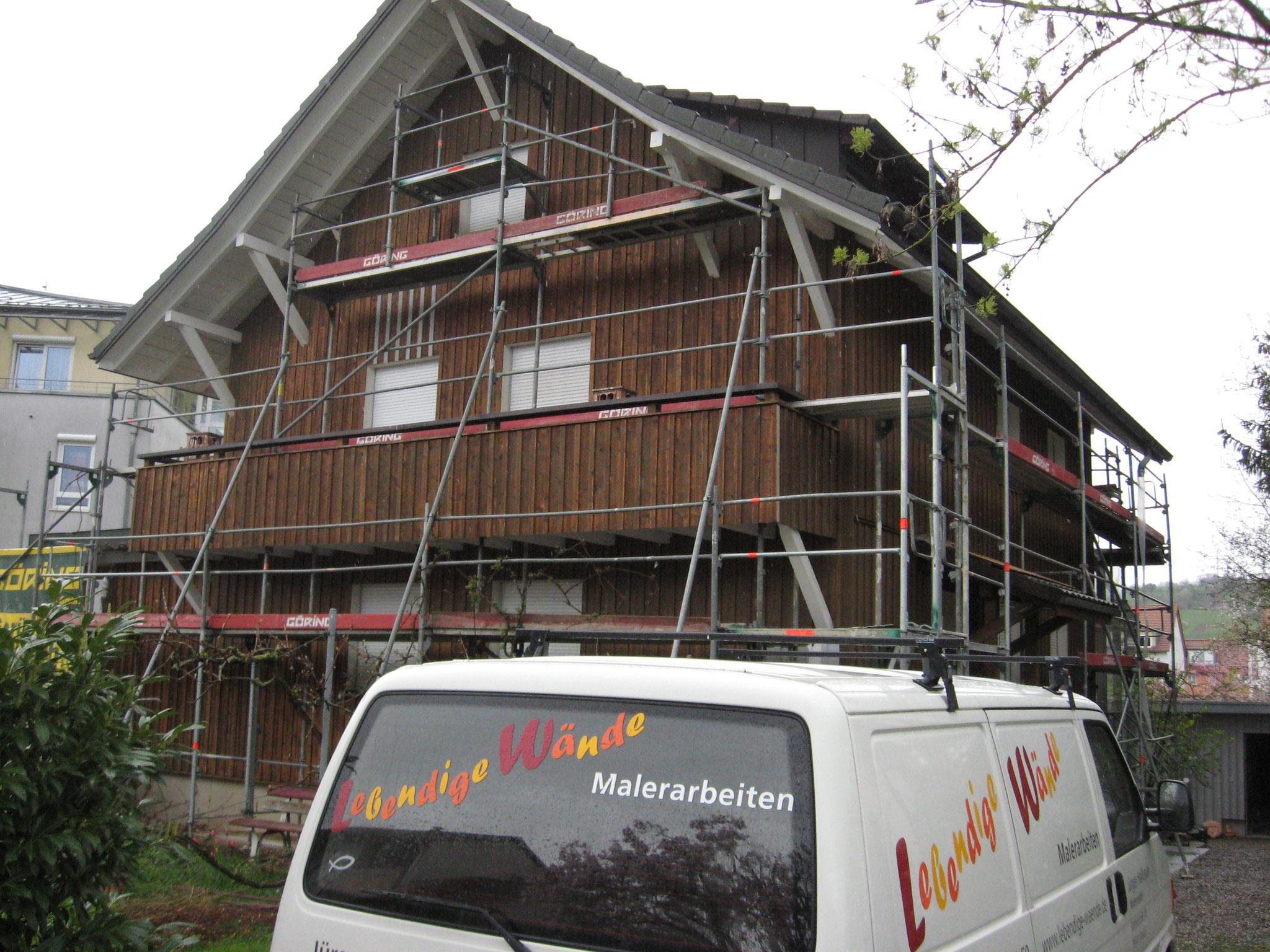 Holzfassade Wohnhaus Lörrach- Stetten vorher