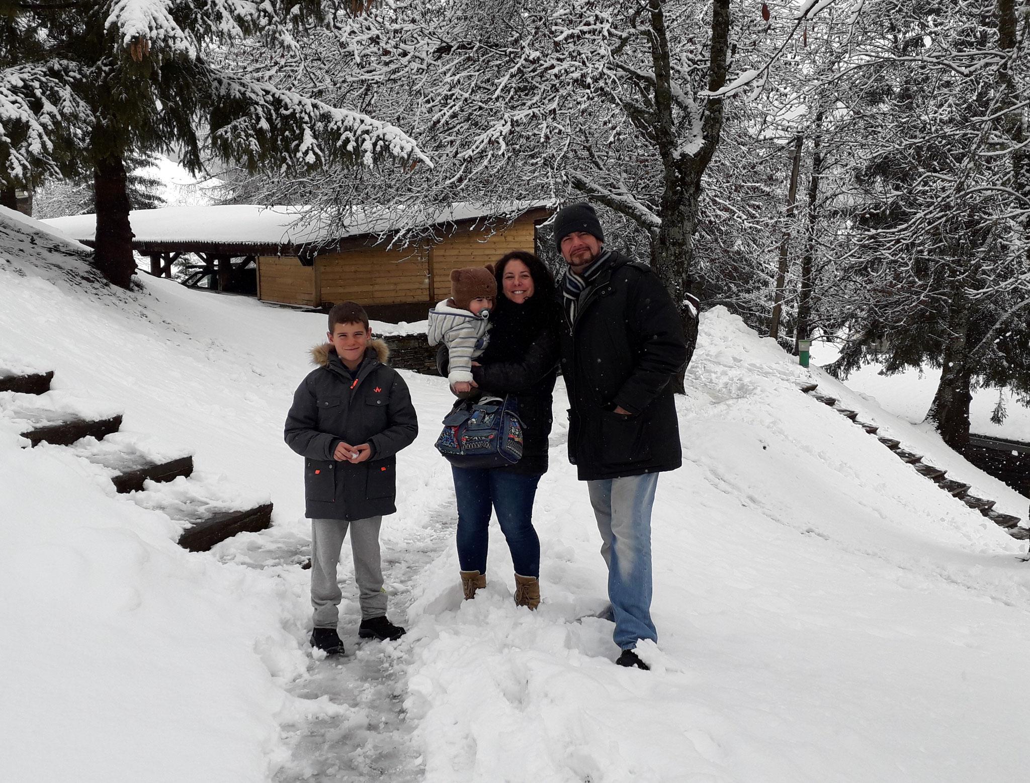 Cynthia, Rudy, Alban et Naël