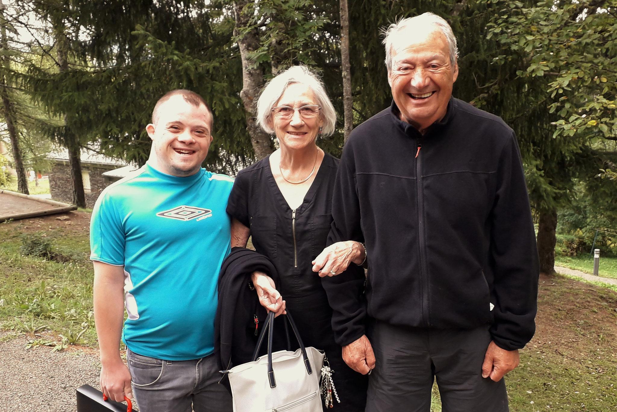 Laurent, Monique et Hugo qui reviennent pour la troisième fois