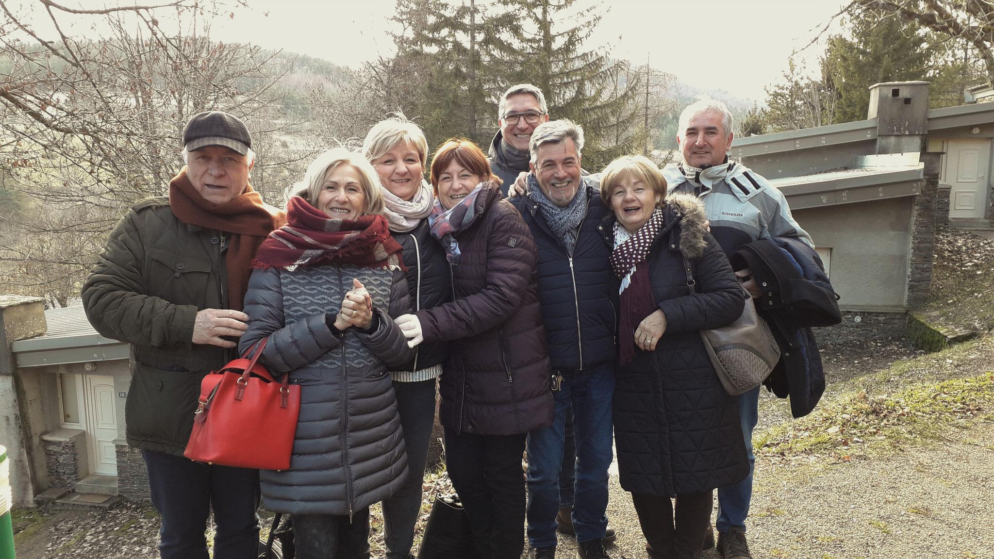 Ils sont venus et revenus nombreux : Elisabeth, Philippe, Florence, Jacques, Bernard, Thérèse, Alain et Corinne.