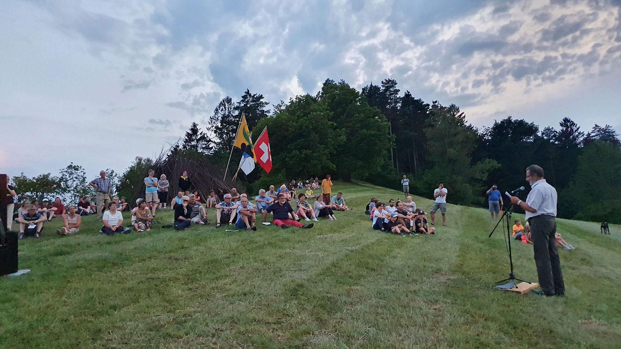 Ansprache des Gemeindepräsidenten / Foto: EW