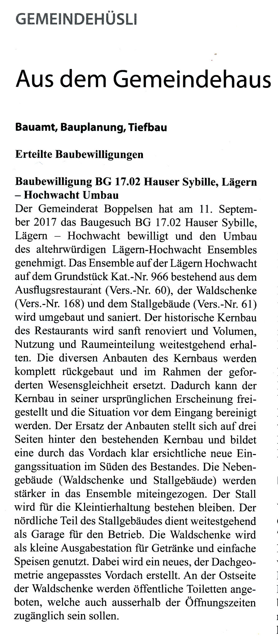 Baubewilligung::Bopplisser Zytig 4/2017